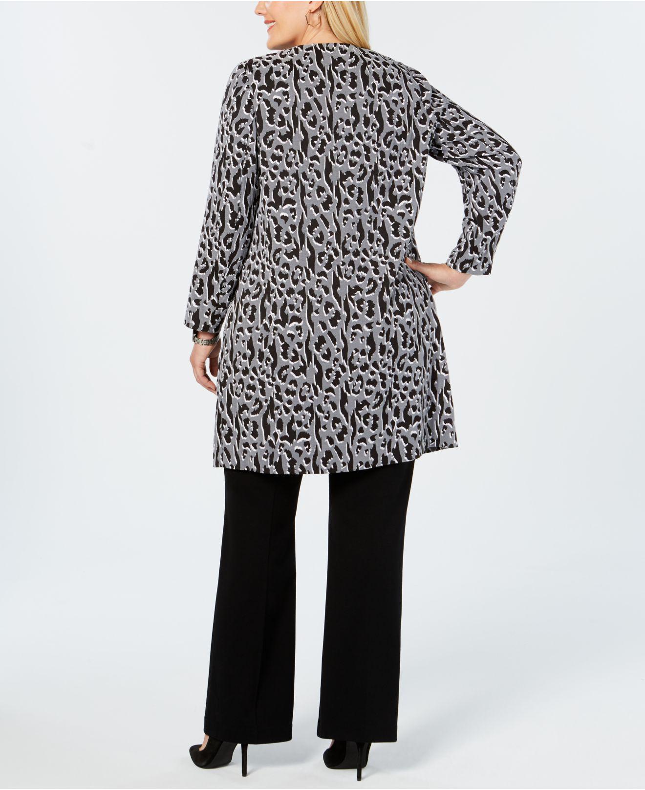 683d579c9ea0 Alfani Plus Size Animal-print Jacket, Created For Macy's in Black - Lyst
