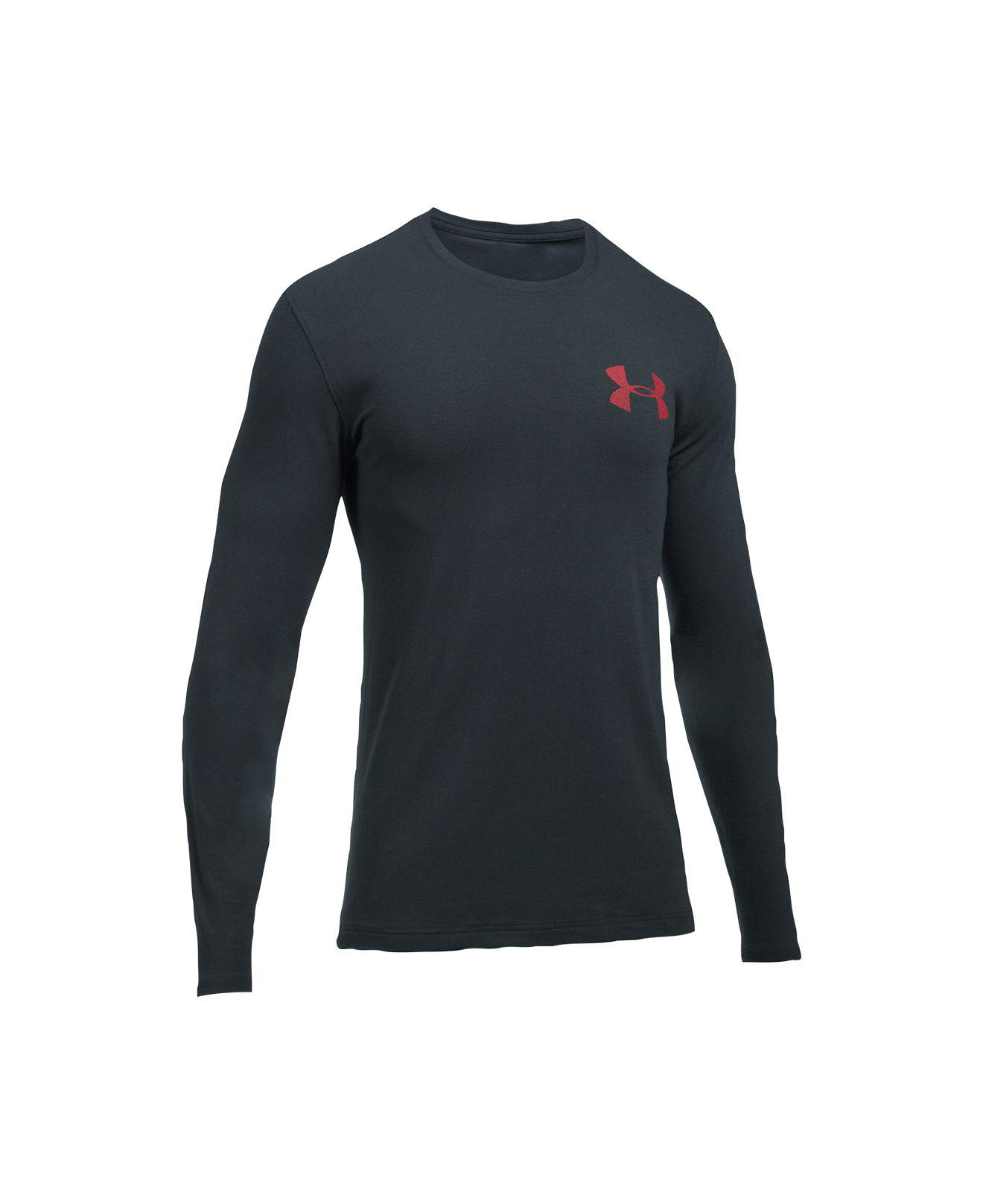 Under armour men 39 s charged cotton long sleeve t shirt in for Gray under armour shirt