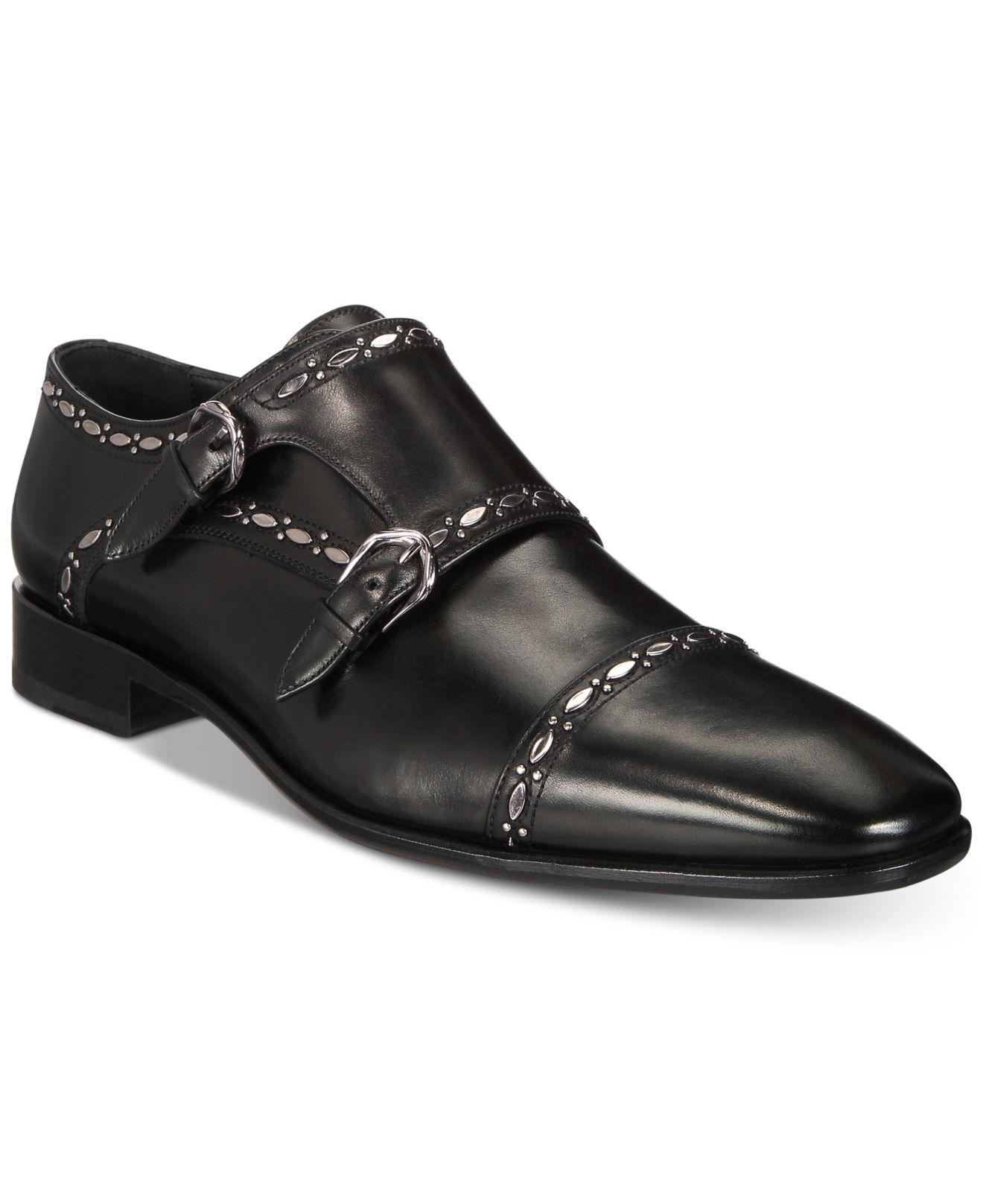 1866a3f495c Lyst - Roberto Cavalli Cap Toe Double-buckle Monk Strap Loafers in Black