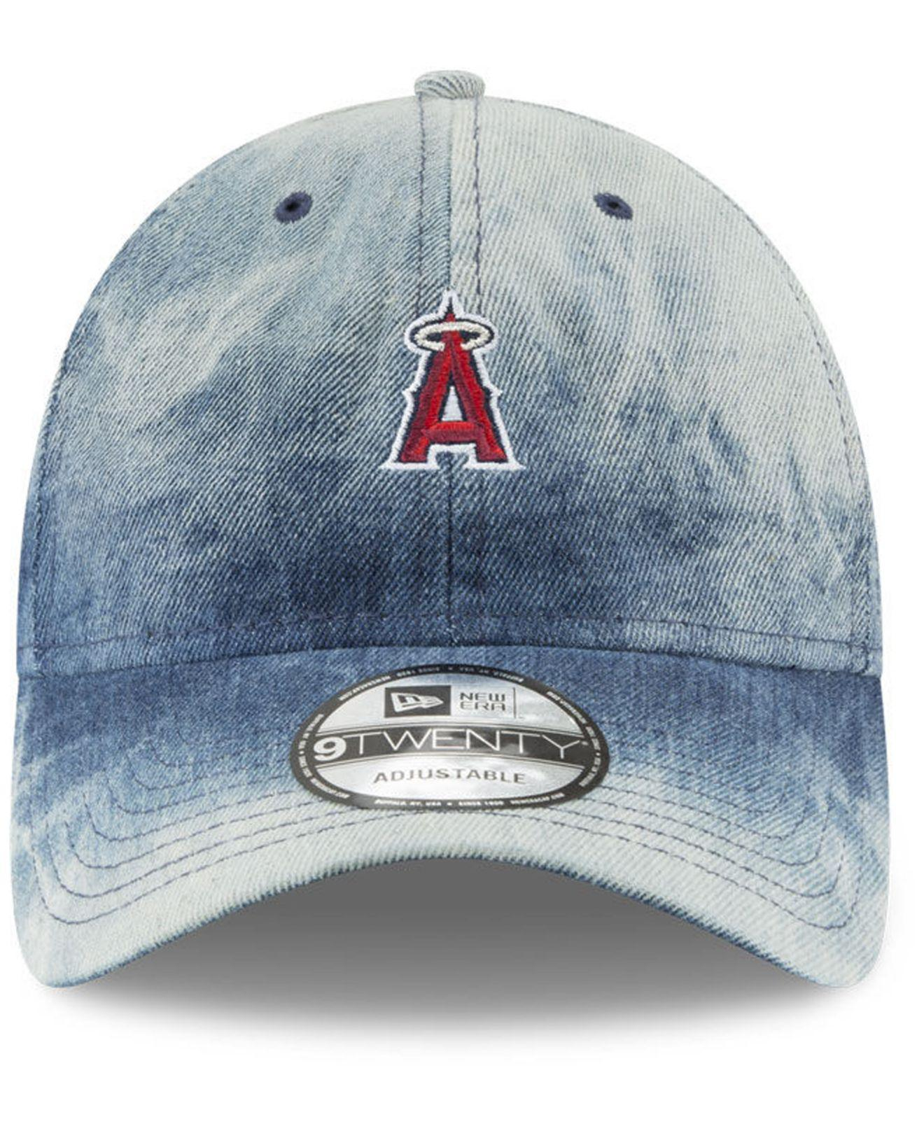 outlet store c7d18 b04f3 ... where can i buy lyst ktz los angeles angels denim wash out 9twenty cap  in blue