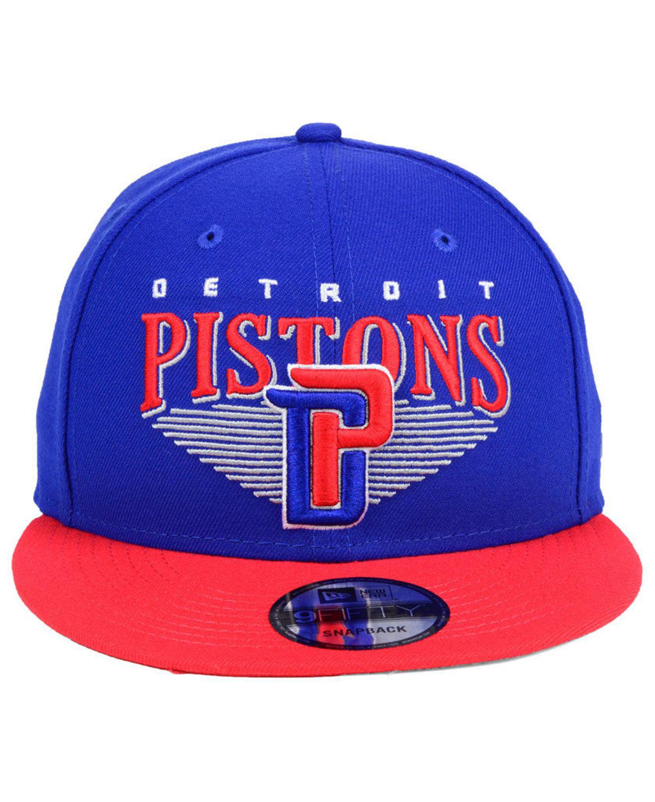 the best attitude 70dd7 49081 ... uk lyst ktz detroit pistons retro triangle 9fifty snapback cap in blue  for men 086c2 a391e