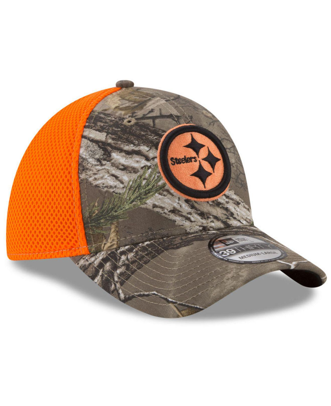 37af678a8 Lyst - KTZ Pittsburgh Steelers Realtree Hunter Neo 39thirty Cap for Men