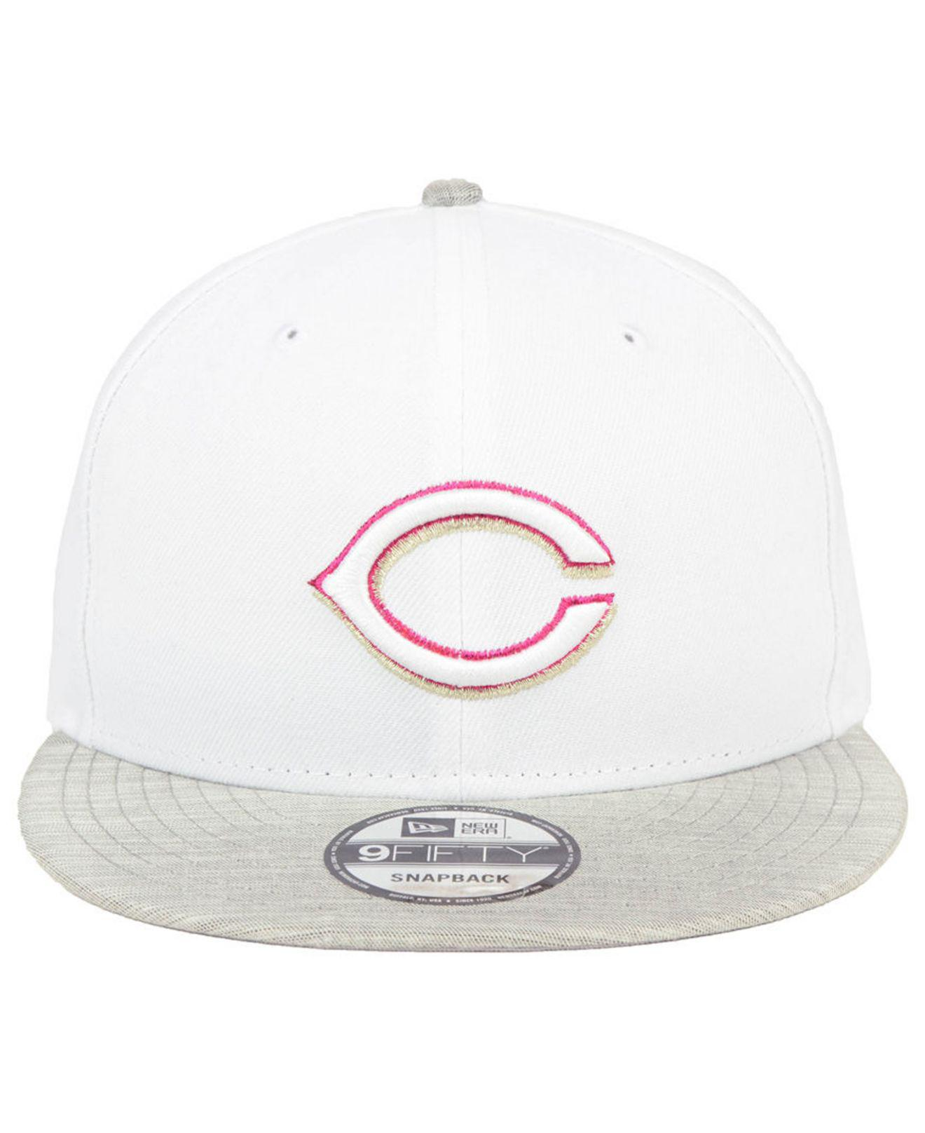 brand new 97090 aec8f Lyst - KTZ Cincinnati Reds Bright Heather 9fifty Snapback Cap in White for  Men