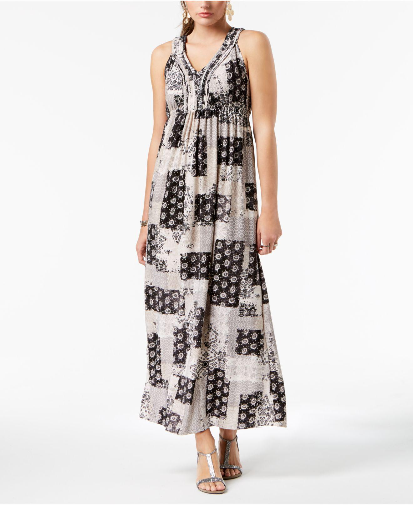 a40530087abe Lyst - Style & Co. Petite Printed Maxi Dress, Created For Macy's
