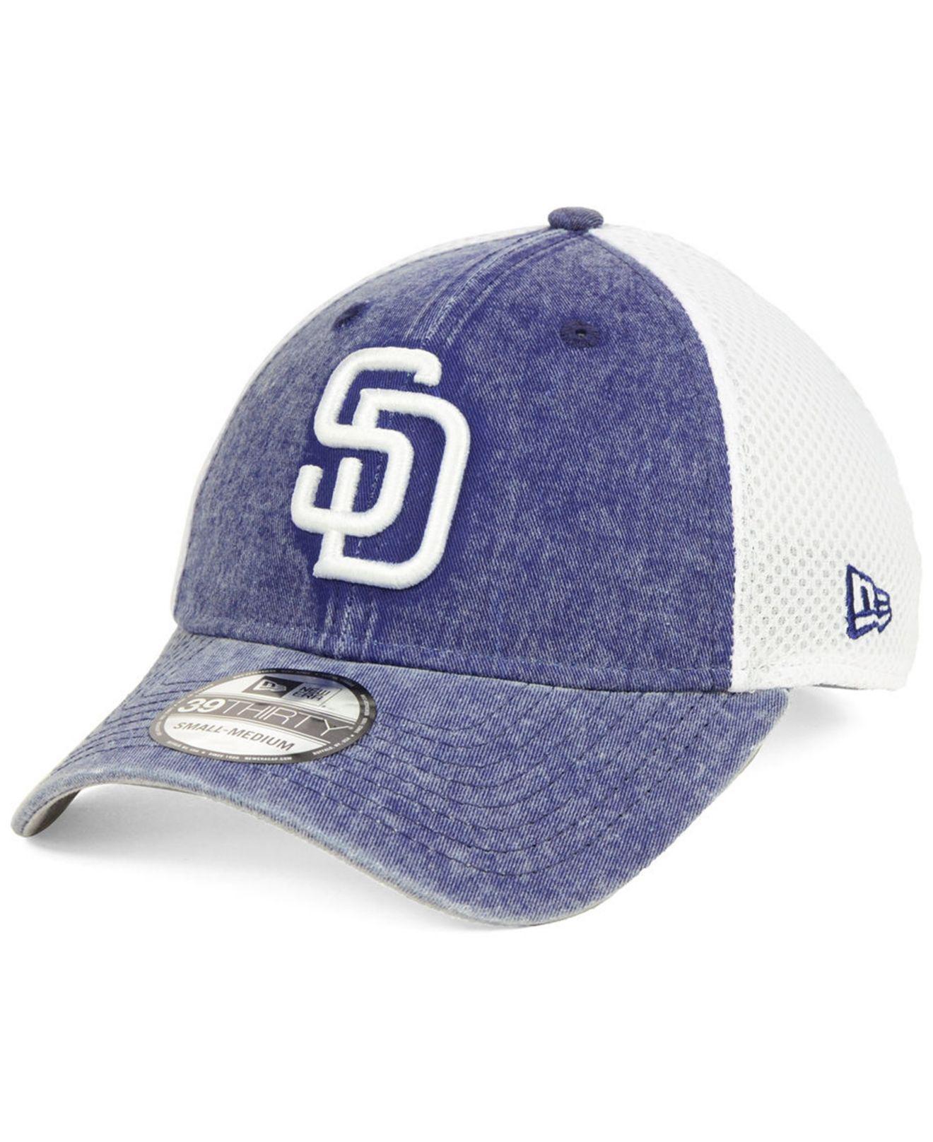 buy popular 9b9cb 6be50 KTZ - Blue San Diego Padres Hooge Neo 39thirty Cap for Men - Lyst. View  fullscreen