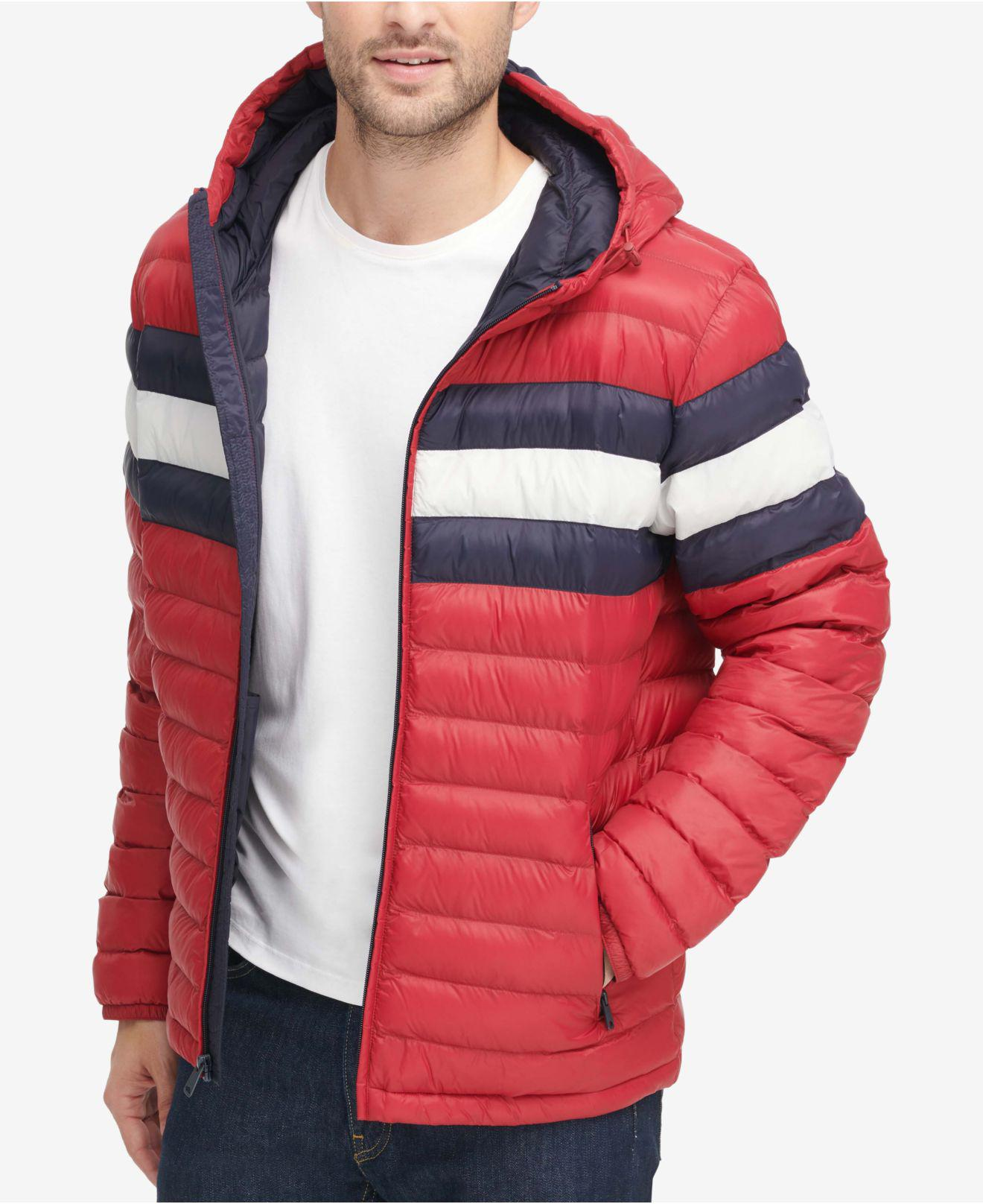 6a2a4683f475 Tommy Hilfiger Color Block Hooded Ski Coat, Created For Macy's in ...