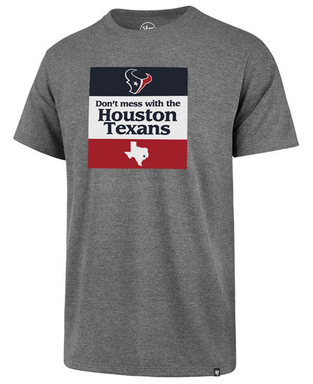 3b965a1e6 Lyst - 47 Brand Houston Texans Regional Slogan Club T-shirt in Gray ...