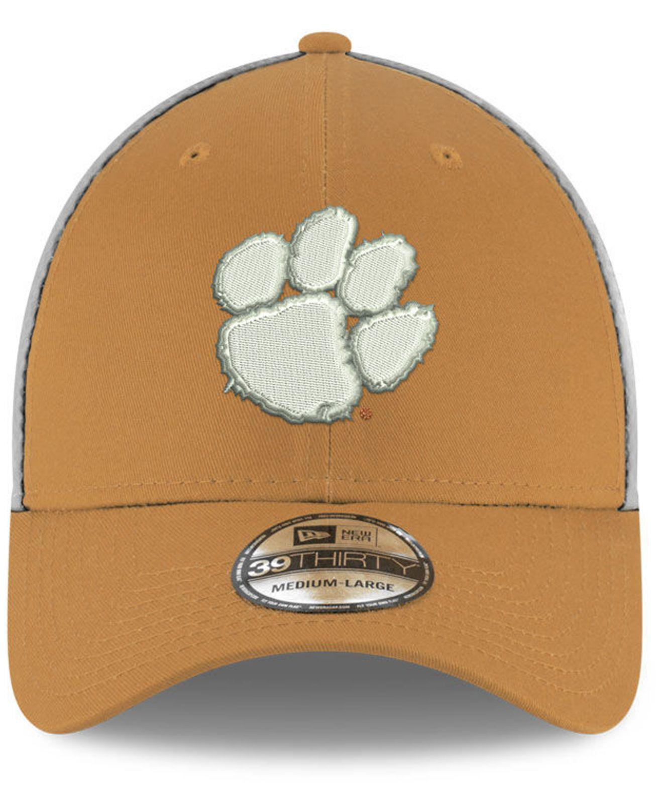 huge selection of d0d78 99e6f Lyst - KTZ Clemson Tigers Mesh Back Gray Neo 39thirty Cap in Gray ...