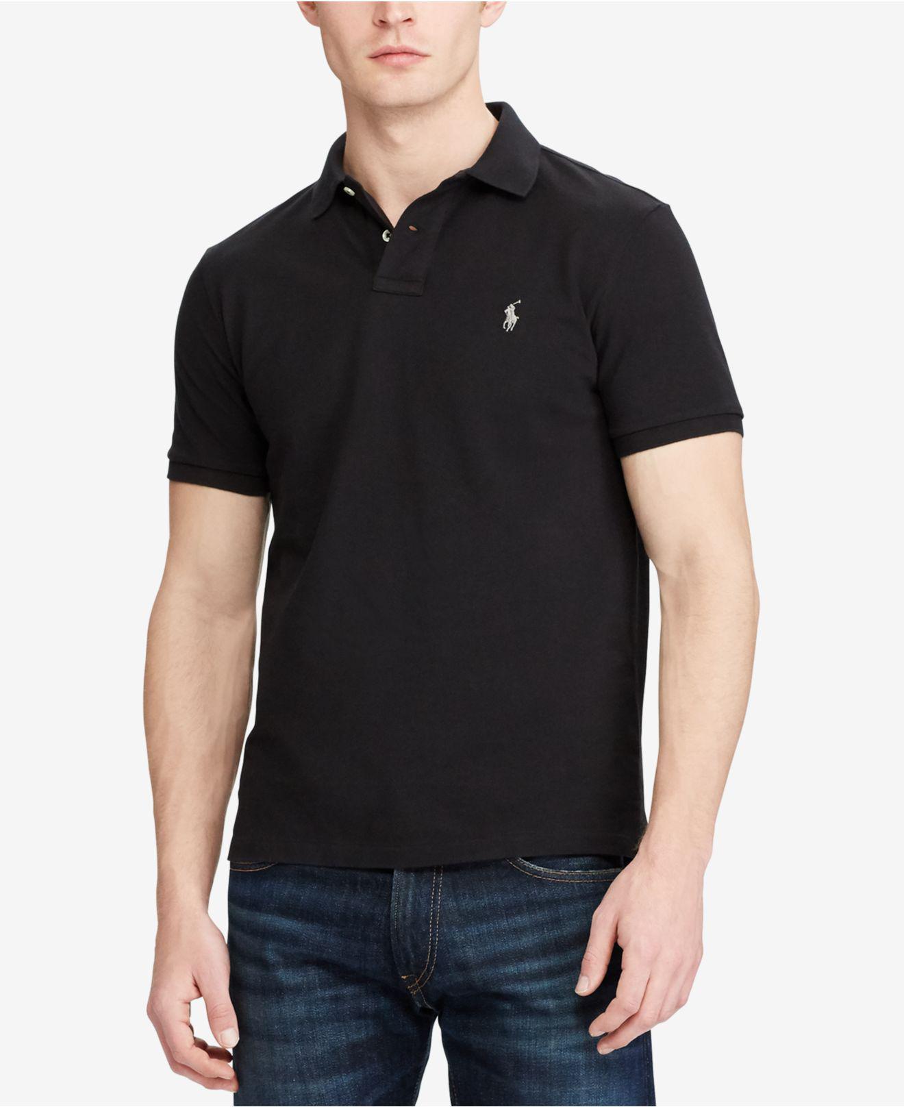 bddd3adca84 Lyst - Polo Ralph Lauren Cotton Mesh Custom Slim Fit Polo Shirt in ...