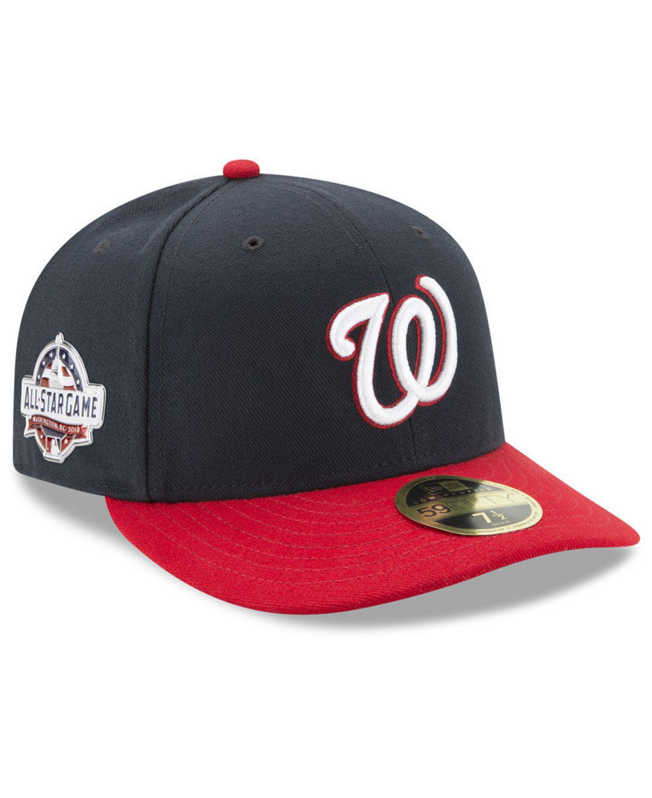 watch db950 8095c KTZ. Men s Blue Washington Nationals Washington All Star Game Patch Low  Profile 59fifty Fitted Cap