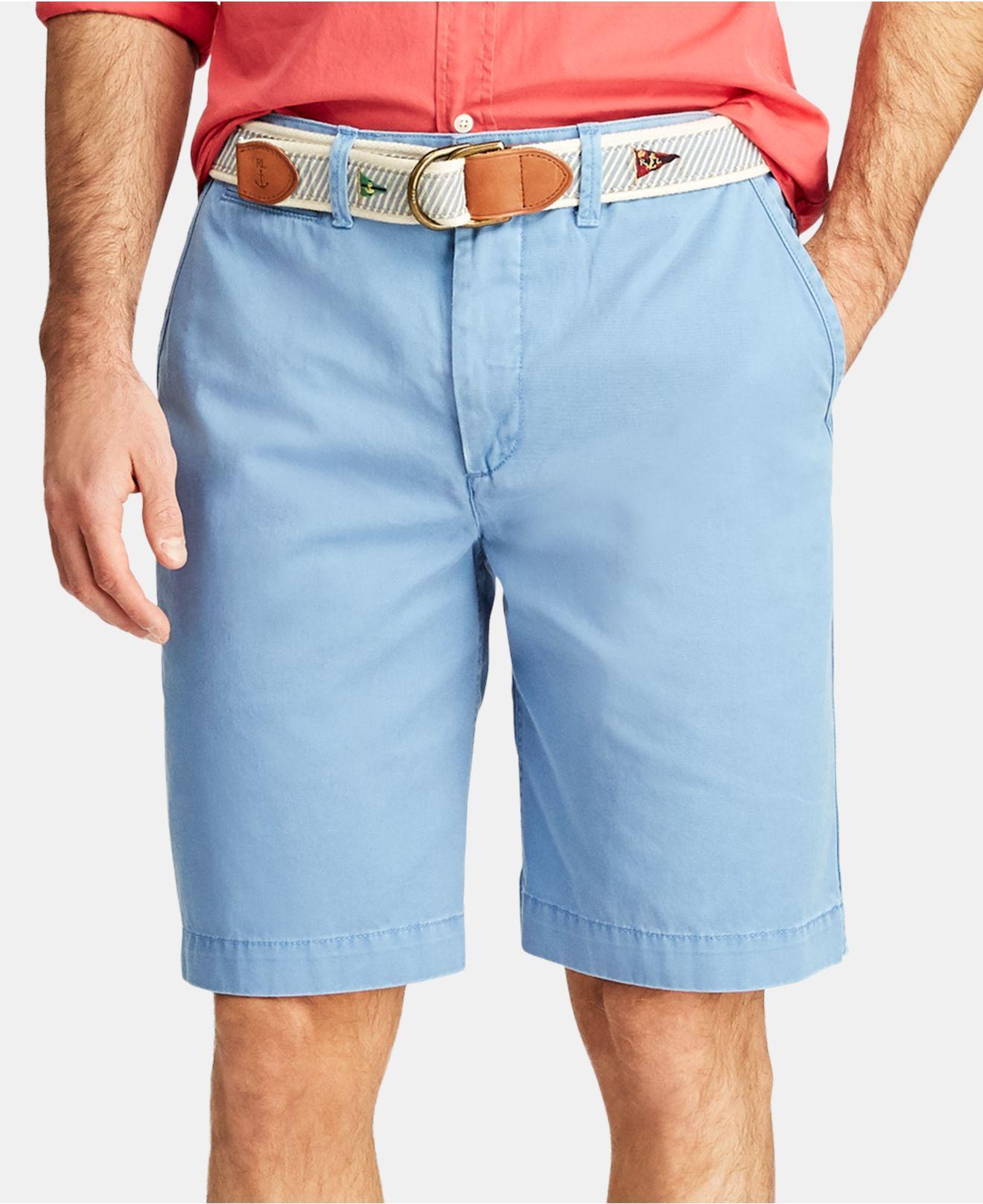 70d9c8d3eeb0 Polo Ralph Lauren. Men's Blue Big & Tall Classic Fit Cotton Chino Shorts