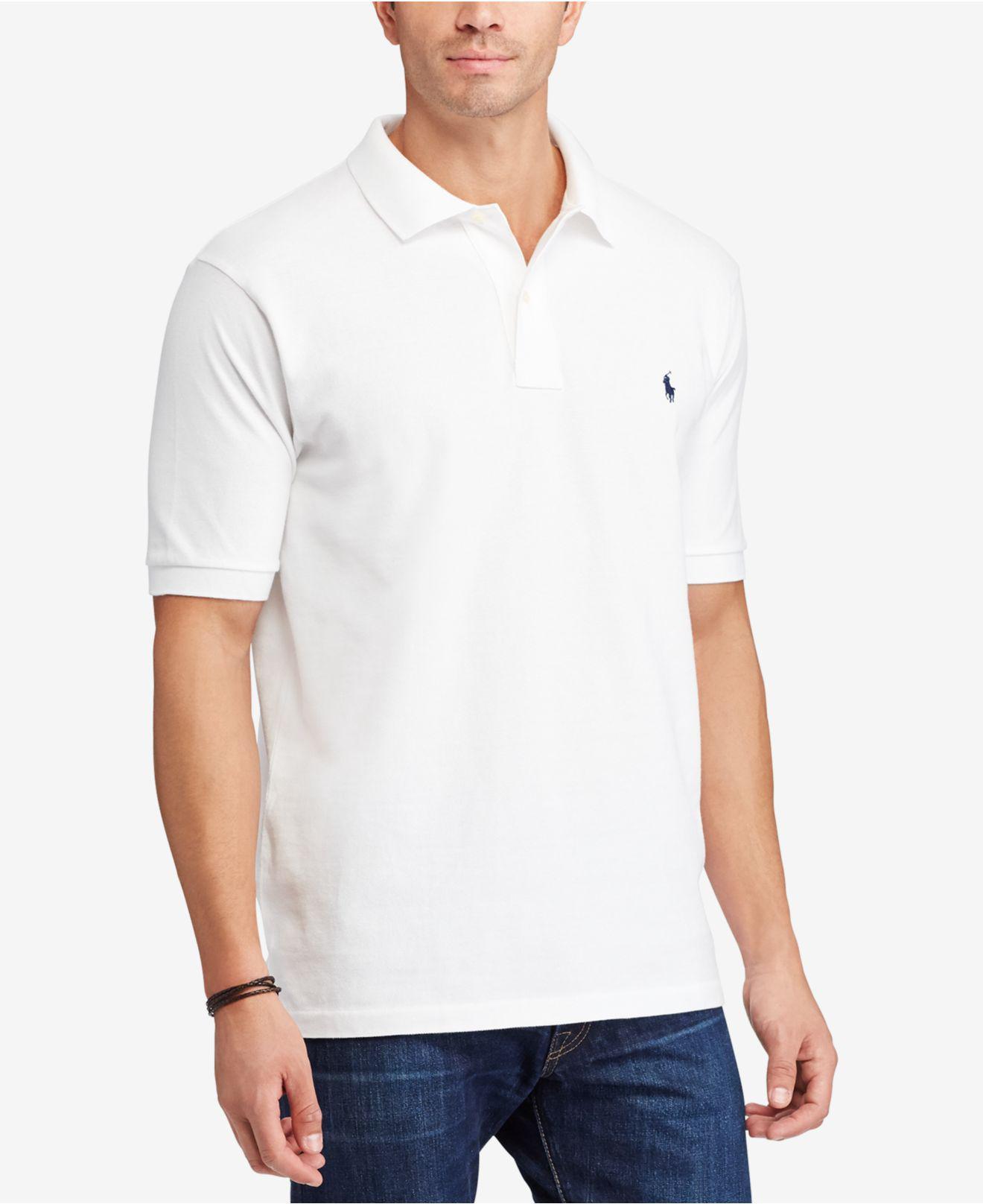 797de0bec20dae Polo Ralph Lauren - White Men's Classic-fit Mesh Polo for Men - Lyst. View  fullscreen