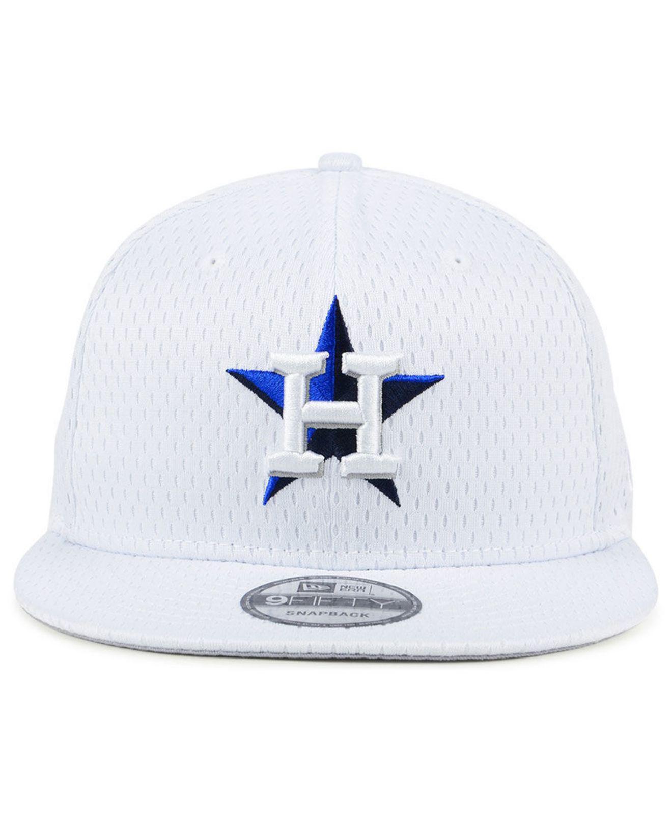 sports shoes f125d 0e89d Lyst - KTZ Houston Astros Batting Practice Mesh 9fifty Snapback Cap in White  for Men