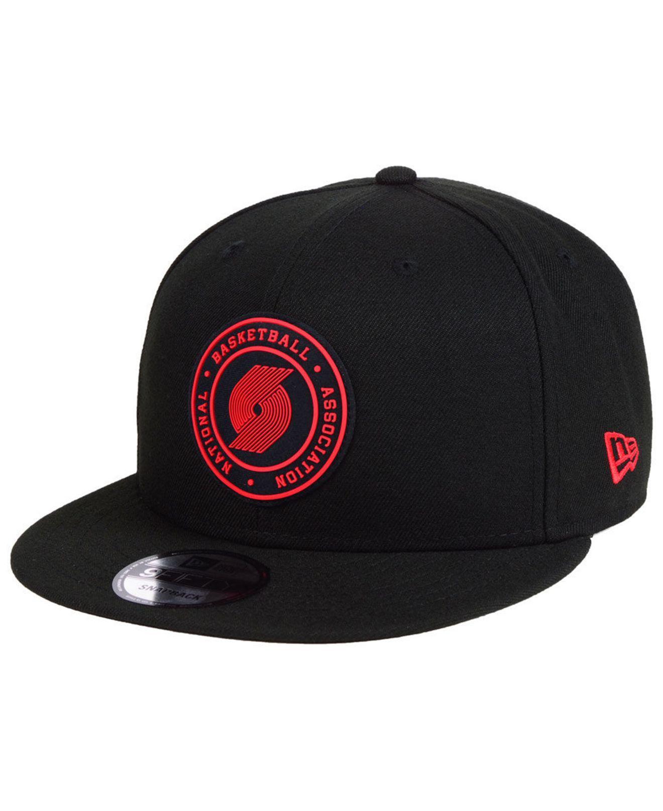 Lyst - Ktz Portland Trail Blazers Circular 9fifty Snapback Cap in ... 594c2a5b3f29