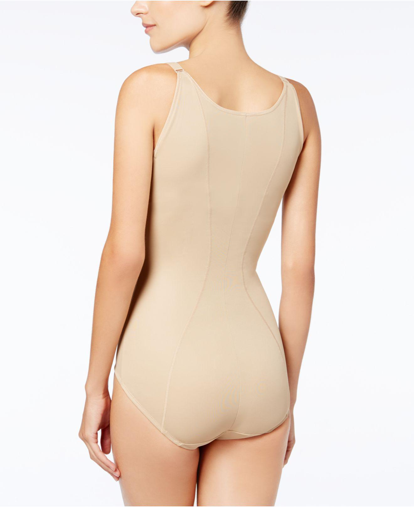18de9482f9 Lyst - Maidenform Firm Control Ultimate Instant Slimmer Open Bust Body  Shaper 2656 in Natural