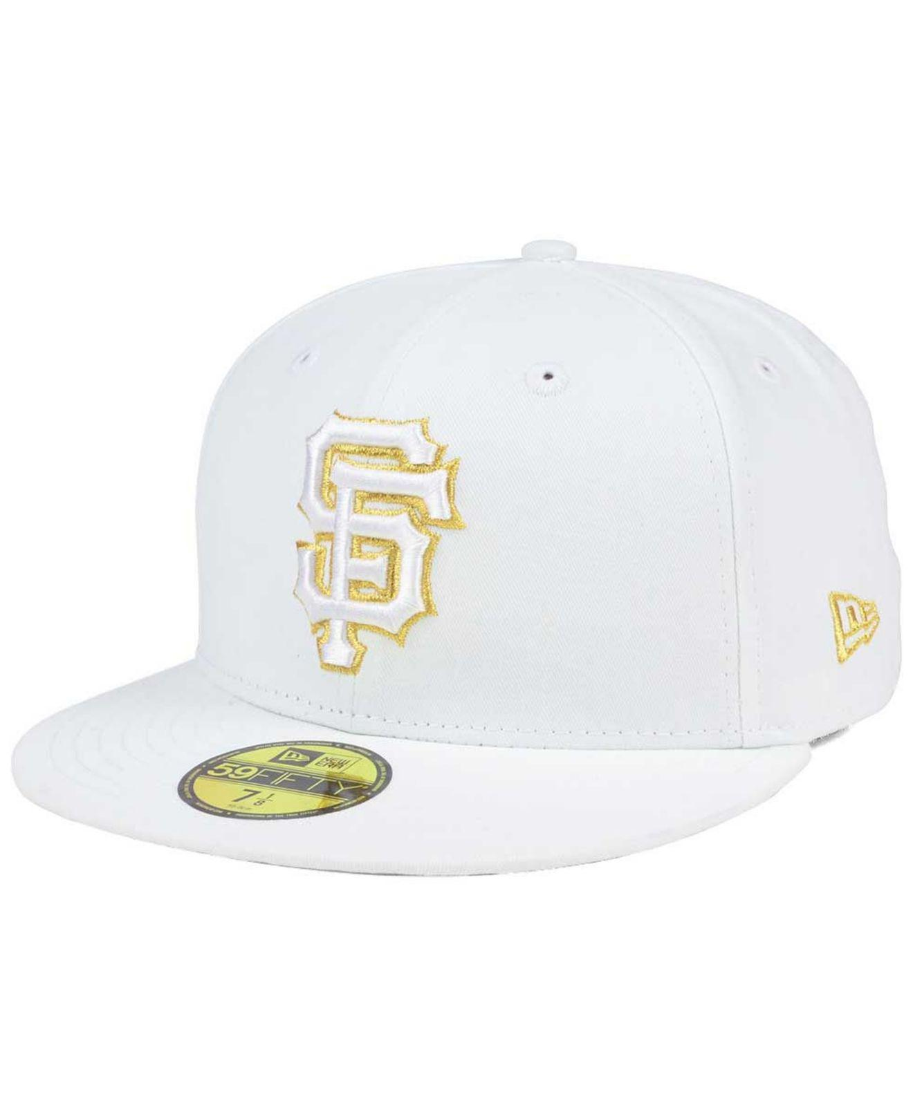 newest collection 9be92 be3ea Lyst - KTZ San Francisco Giants White On Metallic 59fifty Cap for Men