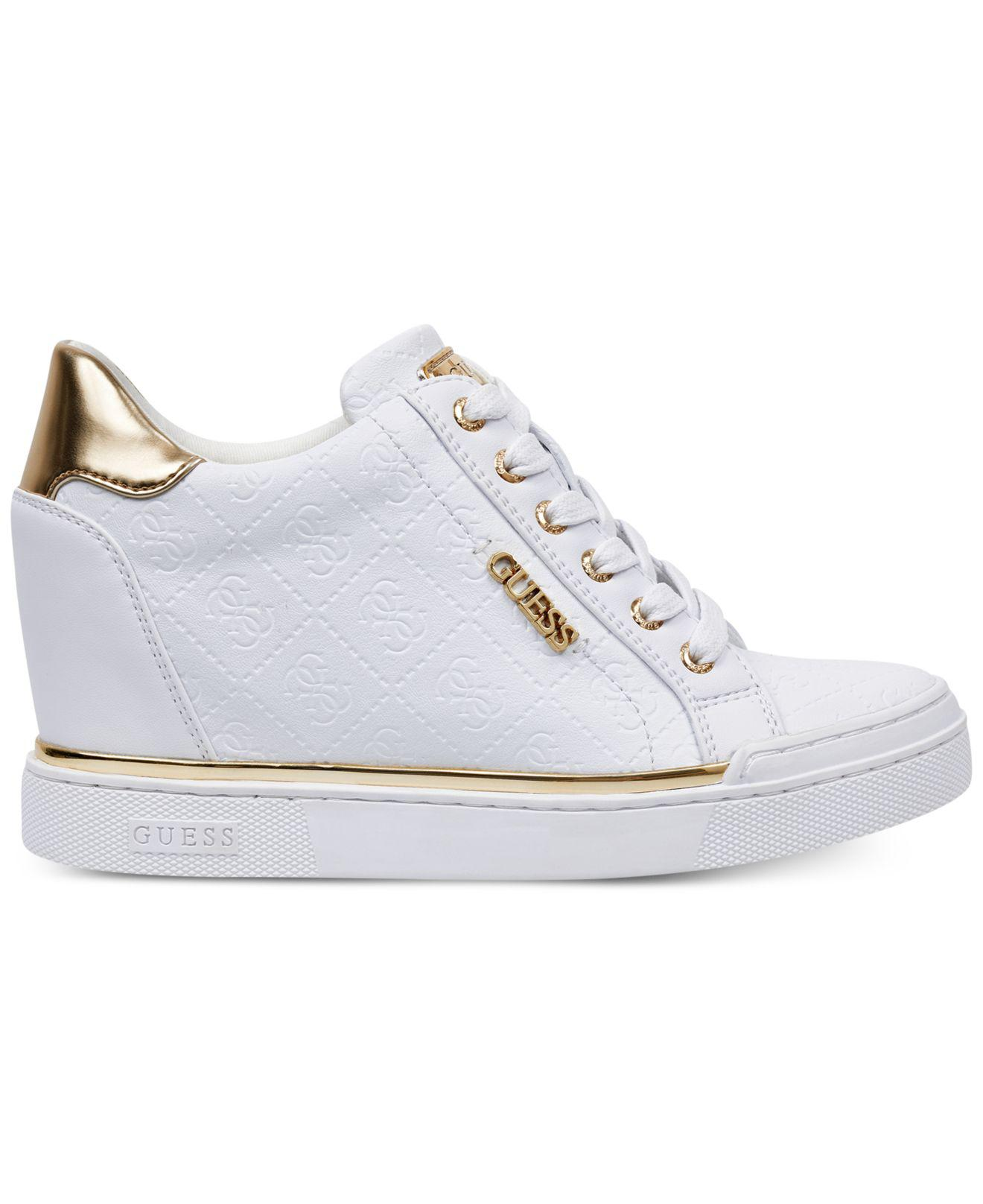 Wedge Sneakers Lyst Flowurs In Guess White oQrdCexBW