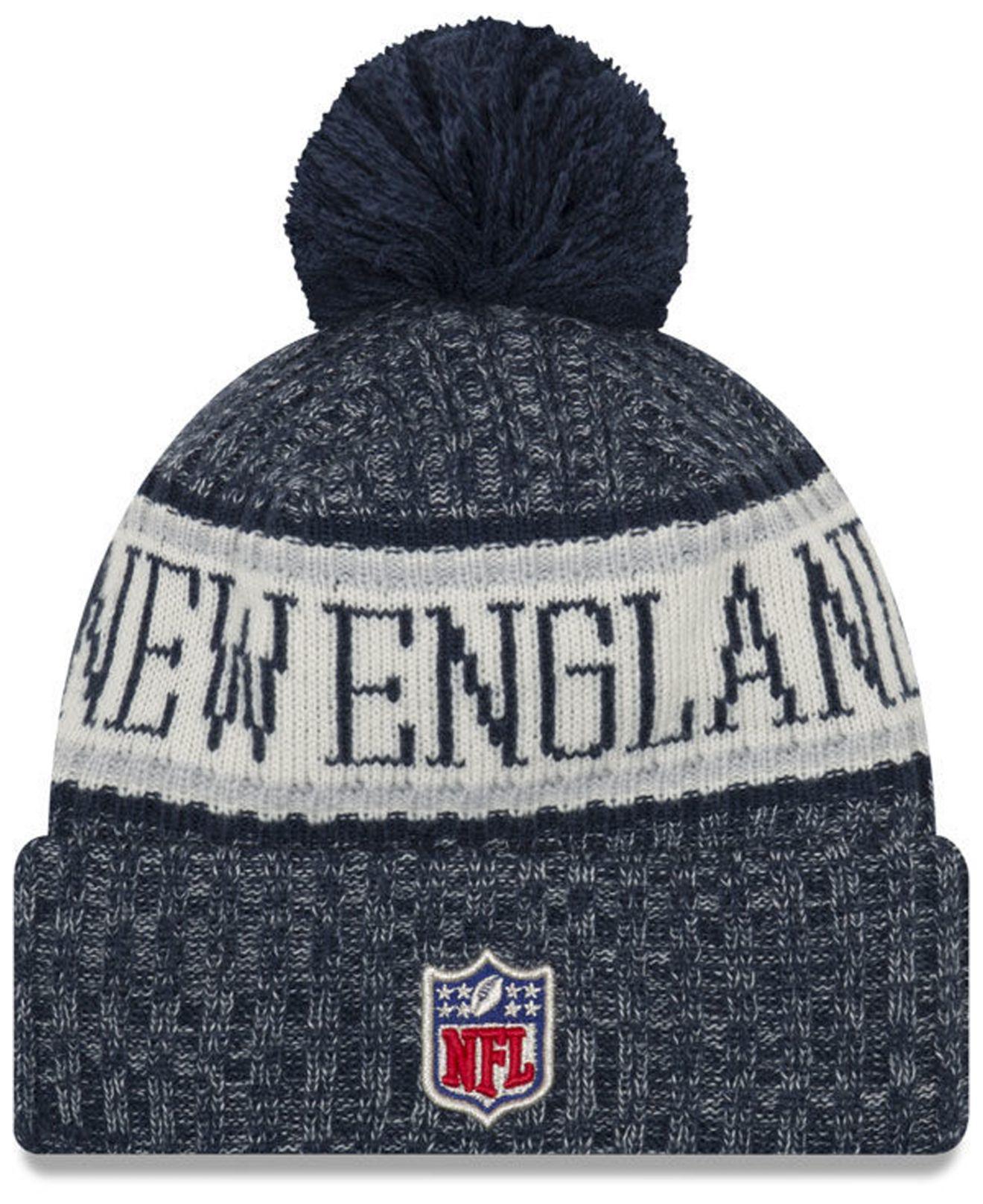 e190a187b9fcd Lyst - KTZ New England Patriots Sport Knit Hat in Blue for Men