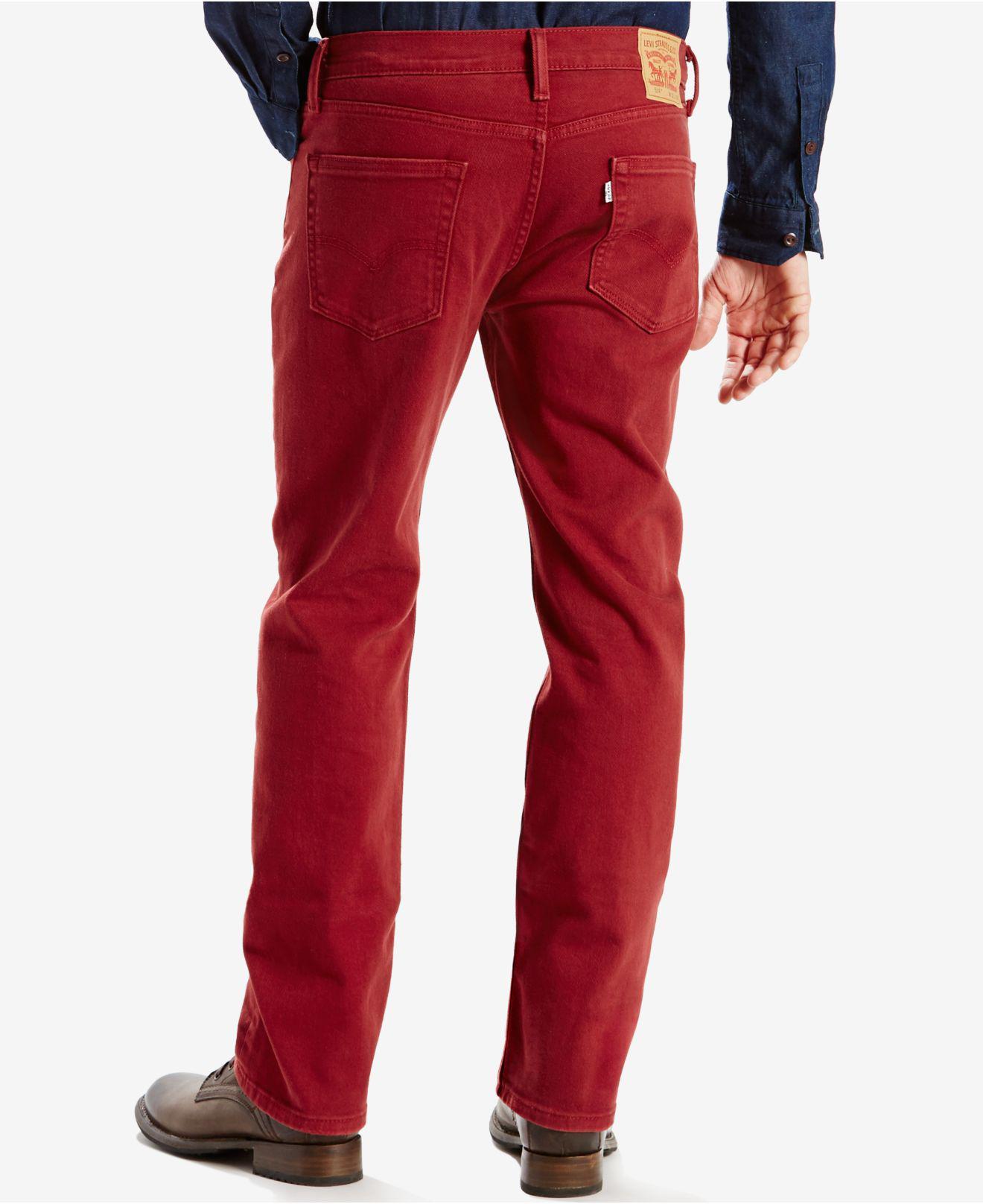 255f0762 Levi's Men's 514 Straight-leg Corduroy Pants in Red for Men - Lyst