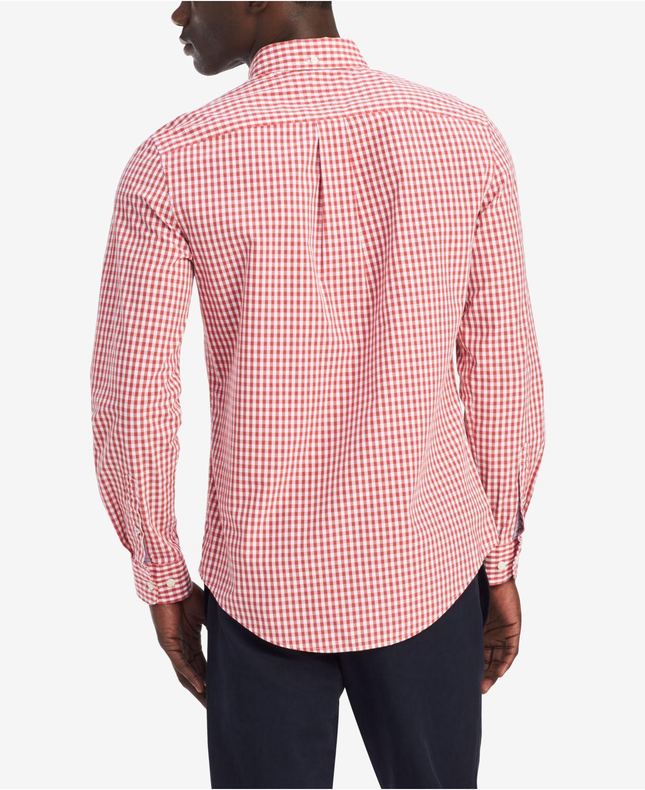 5f570e9ad Lyst - Tommy Hilfiger Classic-fit Twain Gingham Shirt, Created For Macy's  in Red for Men