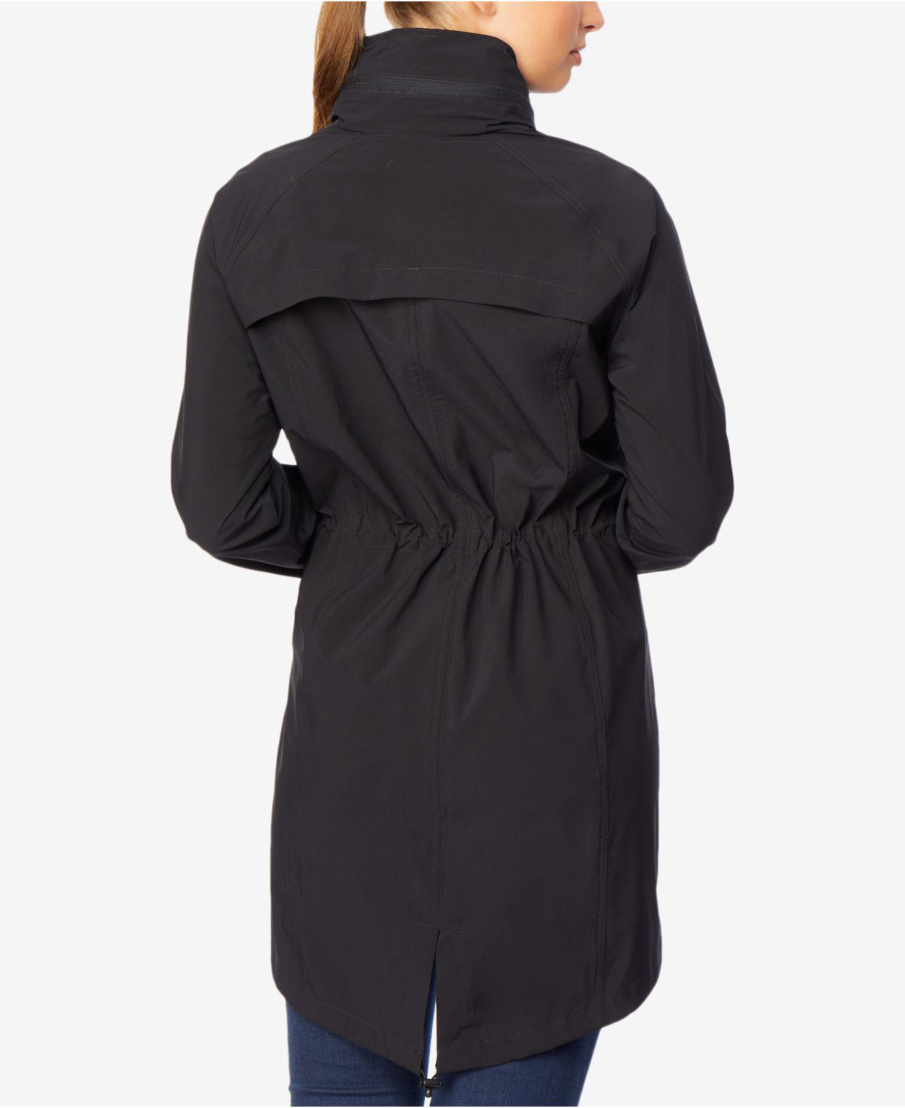 d4fb30efcbeeb Lyst - 32 Degrees Hooded Cinched-waist Anorak Raincoat in Black