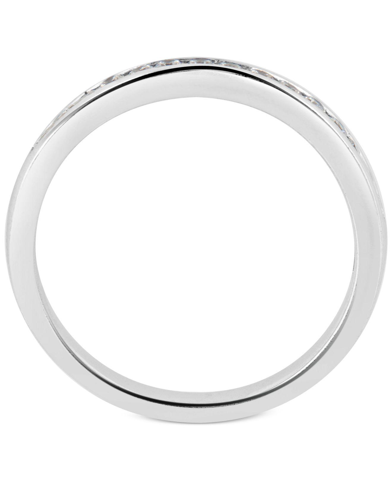 Macy s Diamond Halo Bridal Set 1 Ct T w In 14k White Gold in