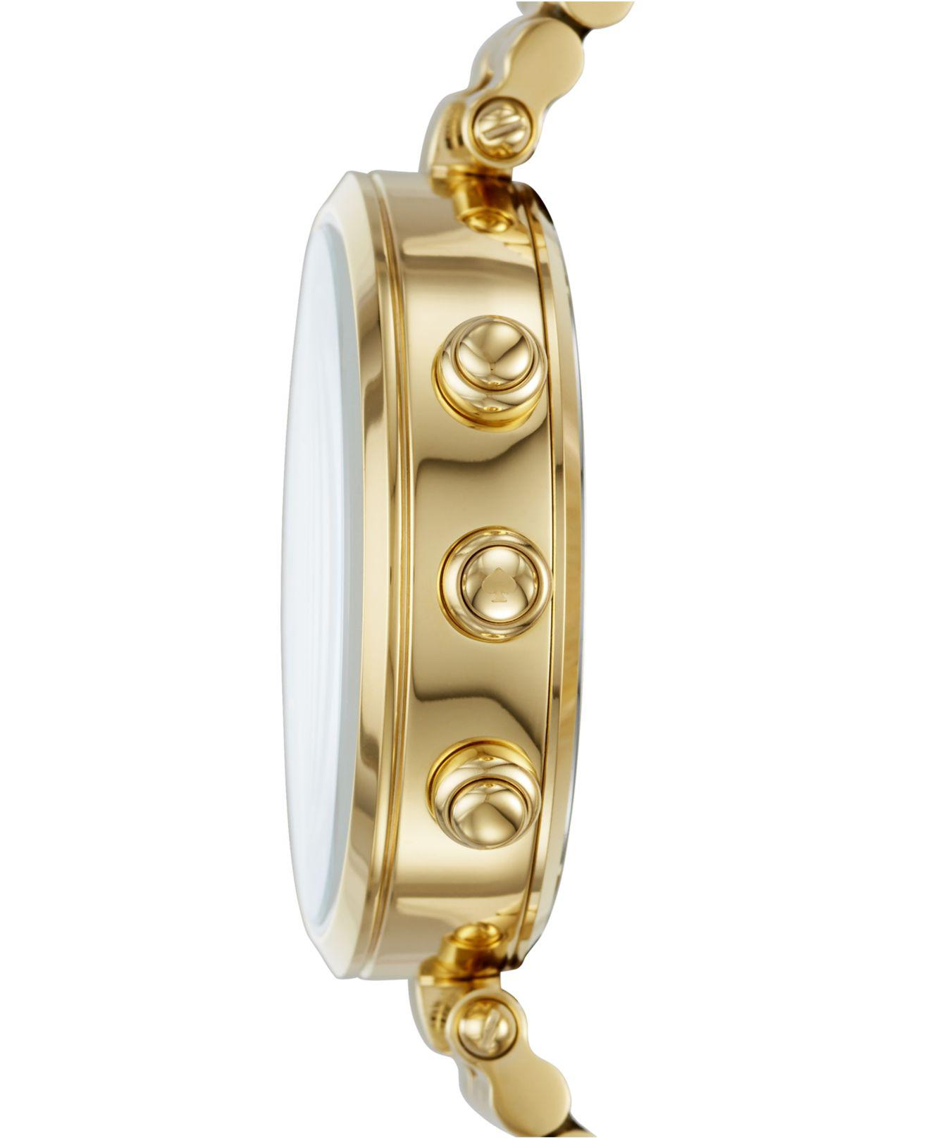af0ce3fb3a9 Lyst - Kate Spade Women s Holland Slim Gold-tone Stainless Steel Bracelet  Hybrid Smart Watch 38mm in Metallic