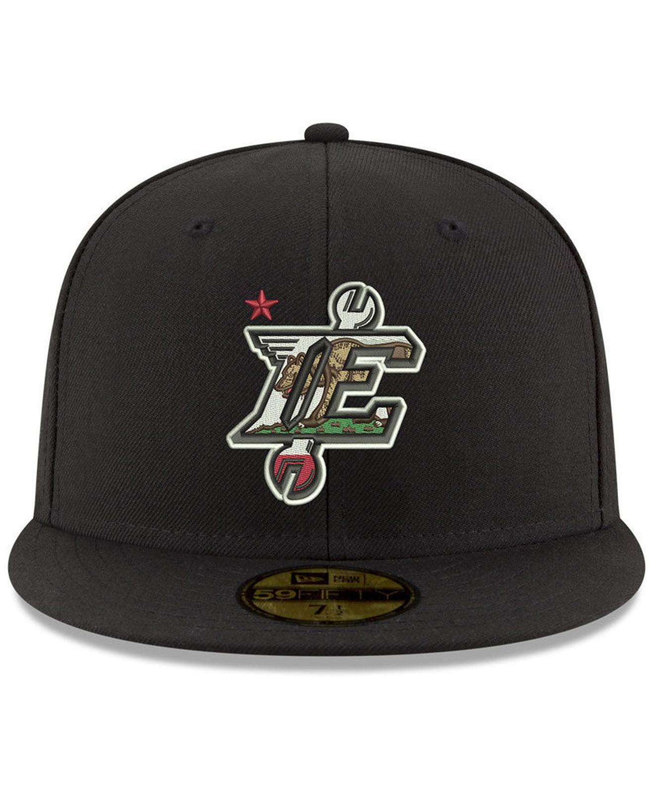 af6831a39b3 Lyst - KTZ Inland Empire 66ers Ac 59fifty Fitted Cap in Black for Men