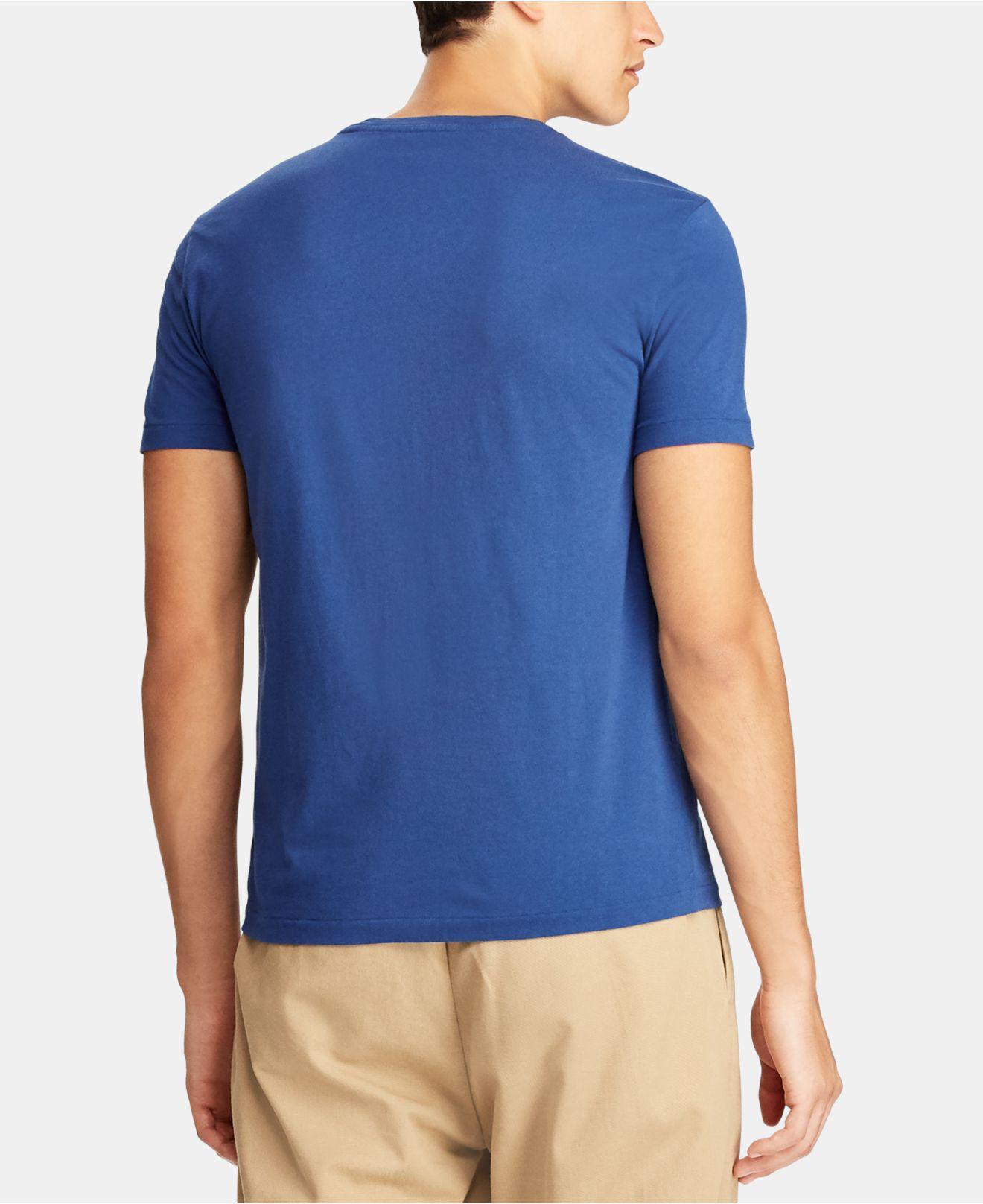 f85426606b359 Lyst - Polo Ralph Lauren Custom Slim Fit Cotton T-shirt in Blue for Men