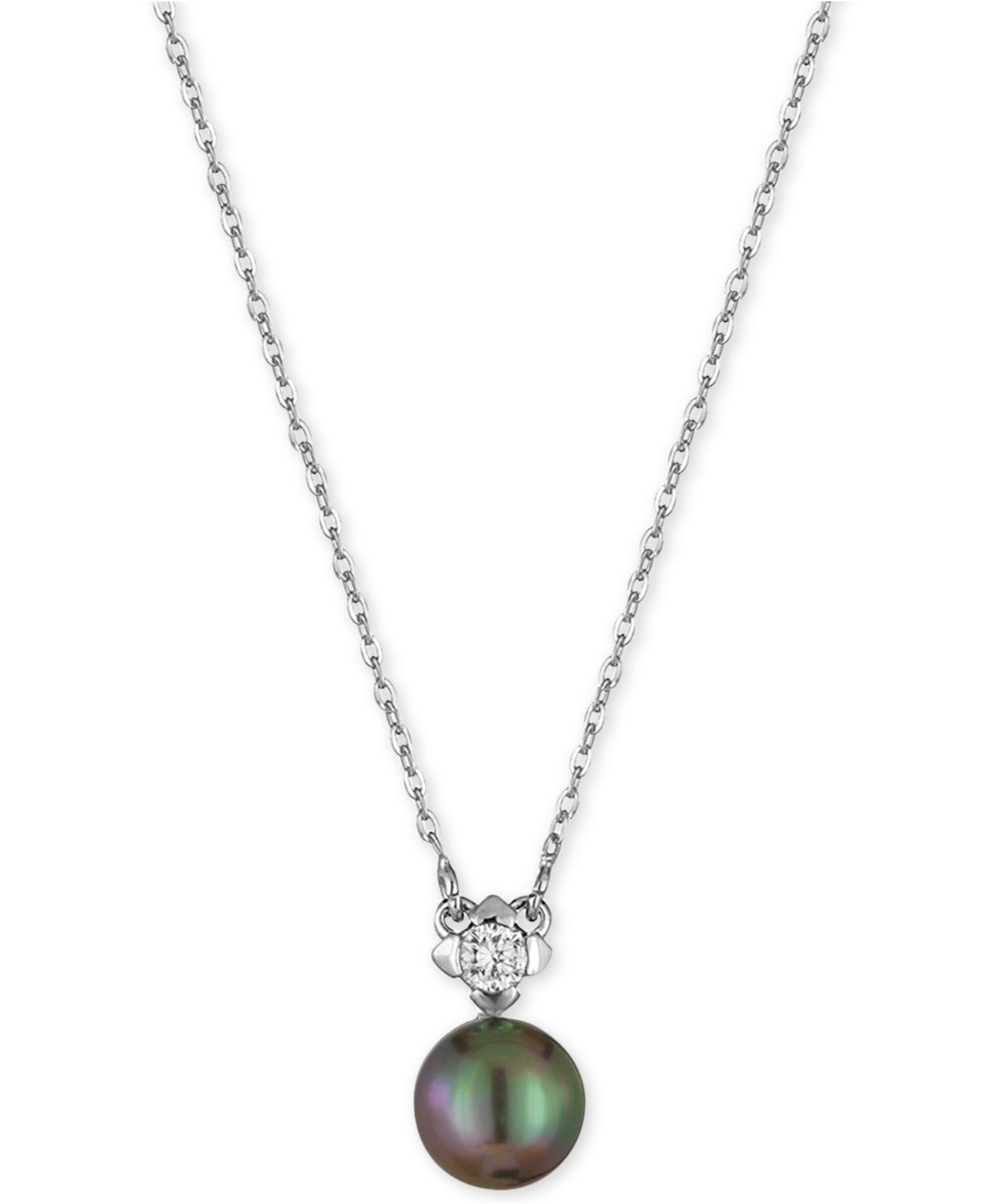 Majorica Pearl & Crystal Pendant Necklace vqPg4moiH