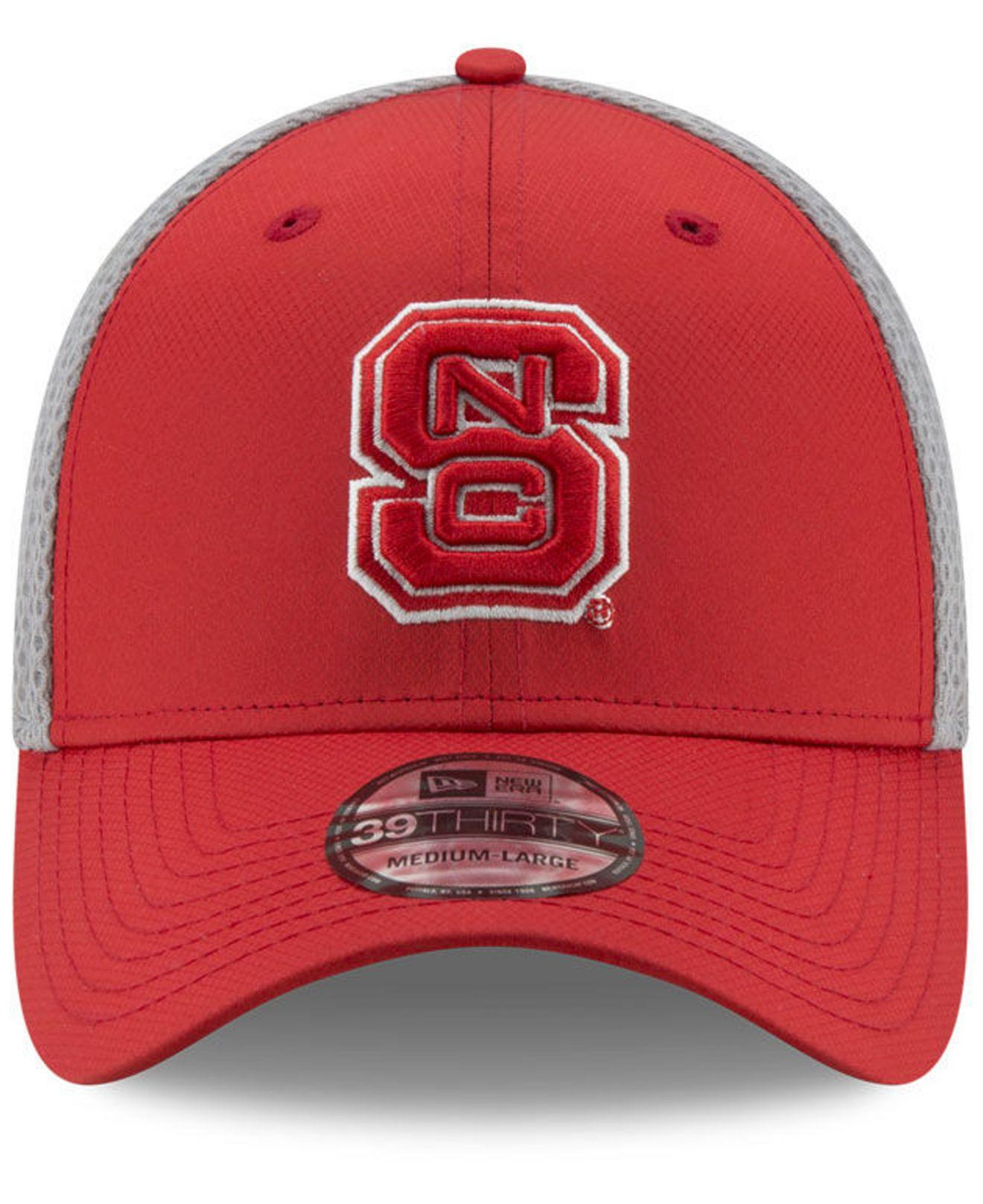 big sale c6ead 8cf76 Lyst - KTZ North Carolina State Wolfpack Tc Gray Neo 39thirty Cap in Red  for Men