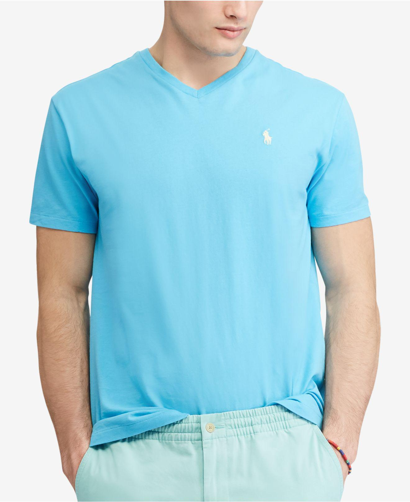 7ef6fbffb Polo Ralph Lauren Classic Fit V-neck T-shirt in Blue for Men - Lyst