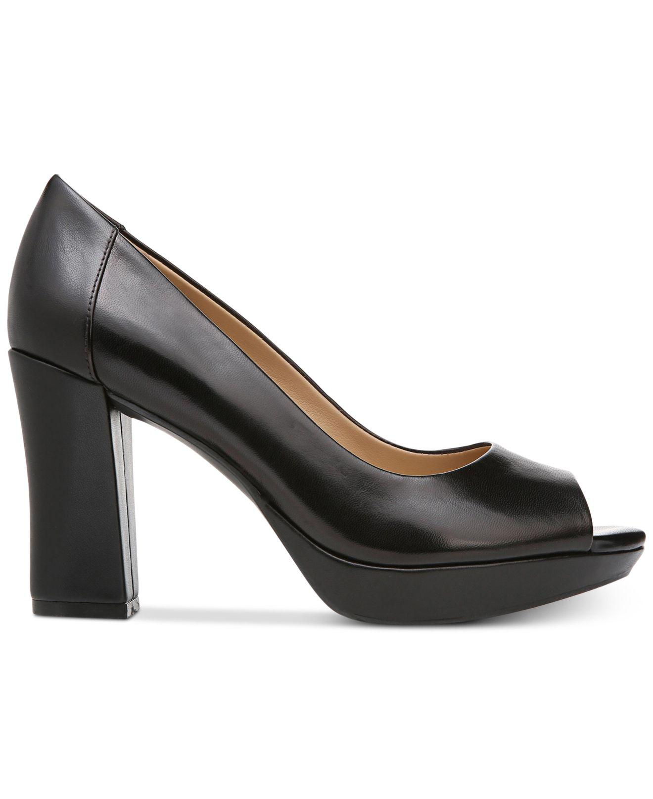 2f0a27b5f6a Lyst - Naturalizer Amie Peep-toe Pumps in Black - Save 62%