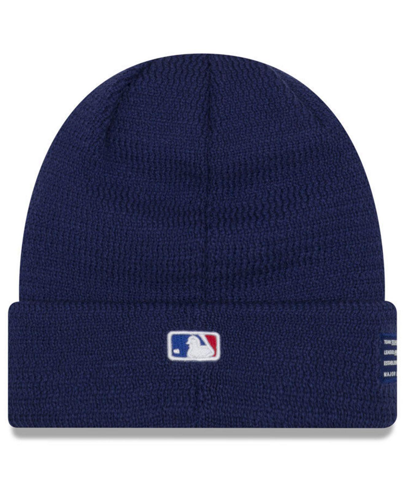 aec34fdbff9a18 Lyst - KTZ Texas Rangers Sport Knit Hat in Blue for Men