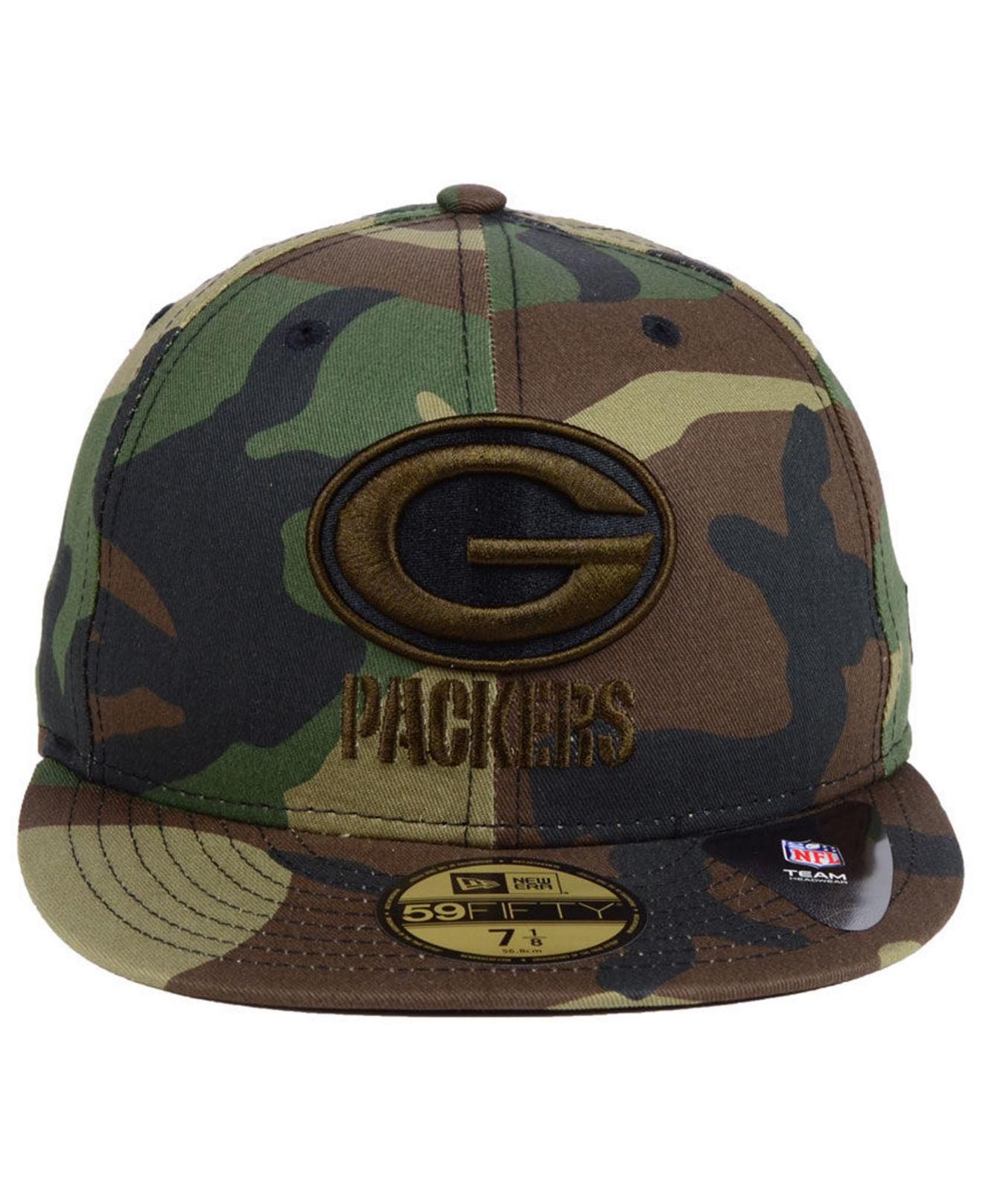timeless design 7a353 1ef86 KTZ Green Bay Packers Woodland Prism Pack 59fifty-fitted Cap in Green for  Men - Lyst
