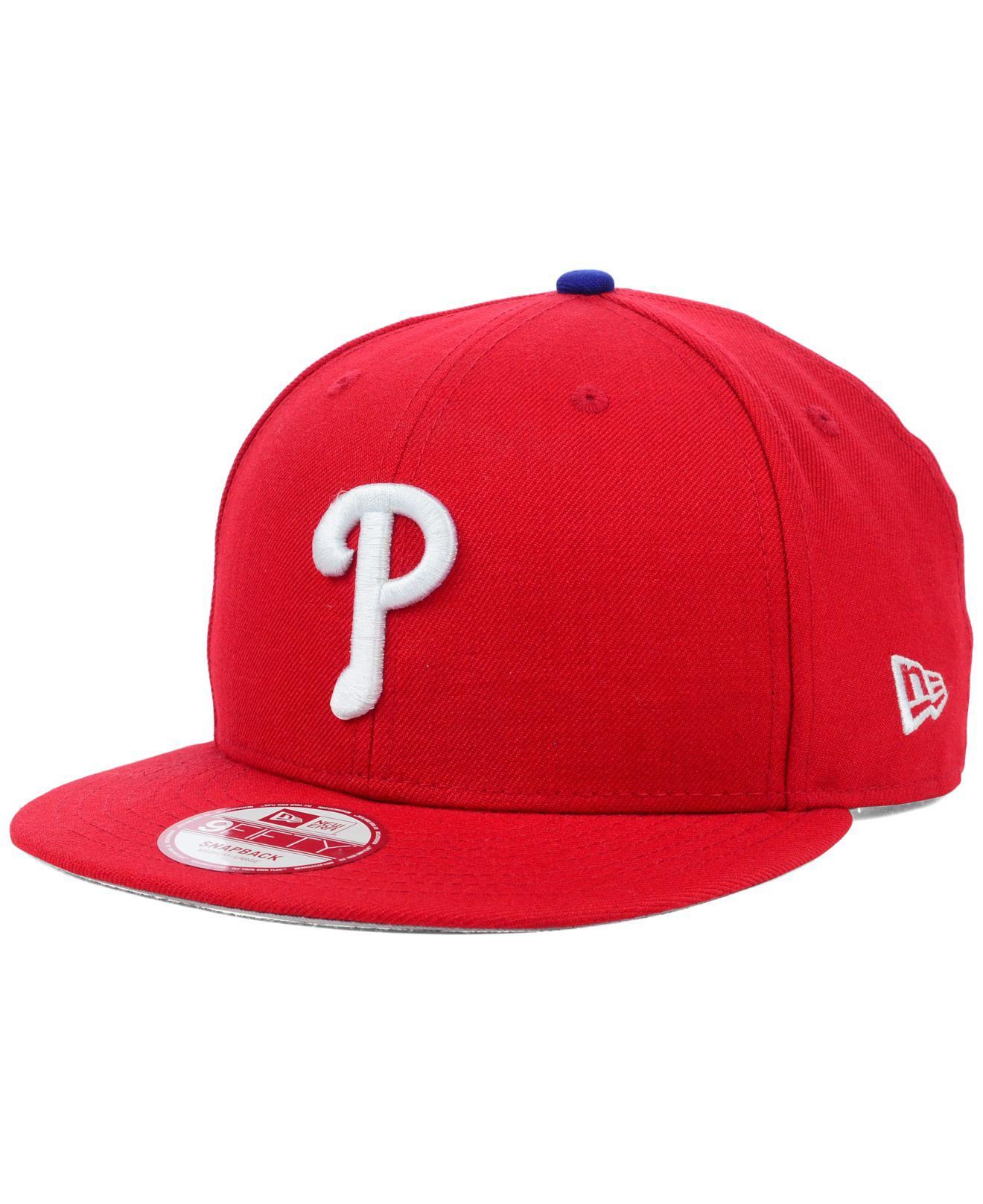 c4a7a5e3f7d Lyst - KTZ Philadelphia Phillies Mlb 2 Tone Link 9fifty Snapback Cap ...