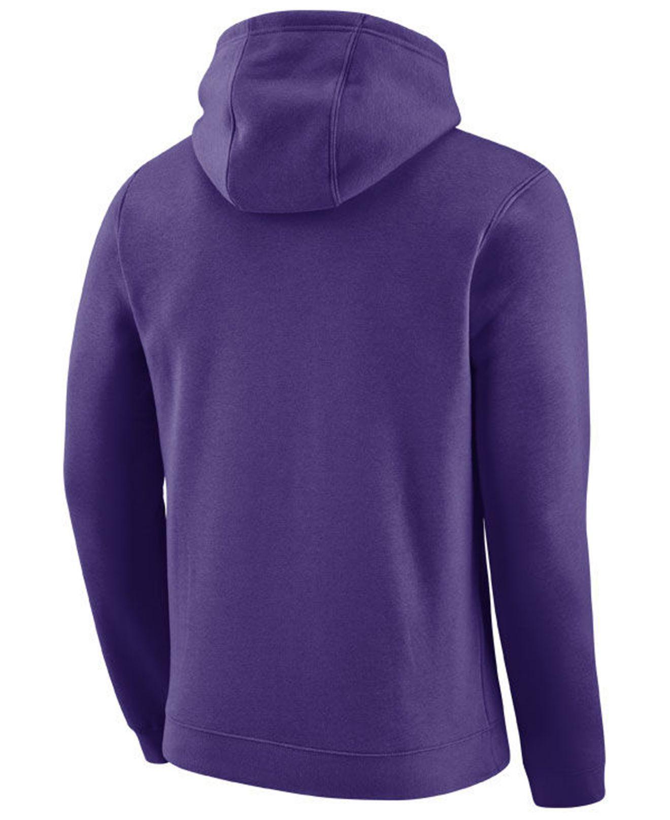 Lyst - Nike Los Angeles Lakers City Club Fleece Hoodie in Purple for Men 8ca096b70