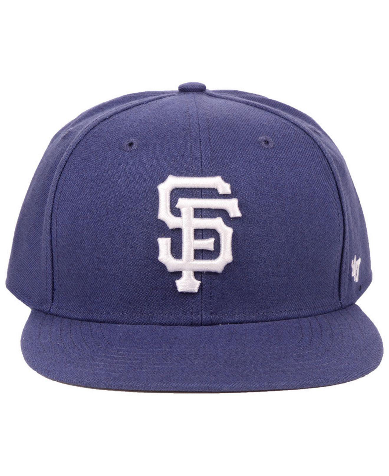 778d06ac68a Lyst - 47 Brand San Francisco Giants Autumn Snapback Cap in Blue for Men