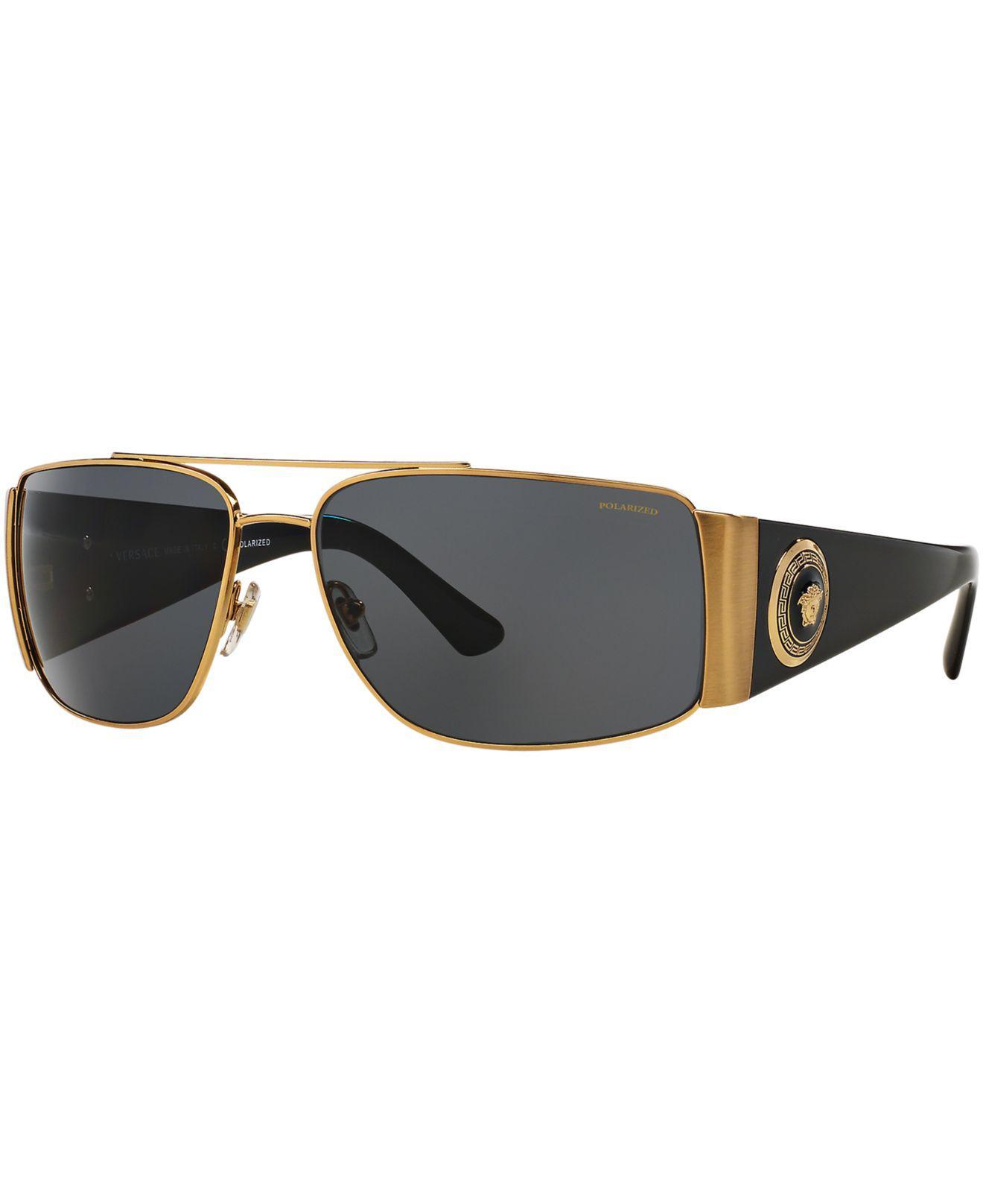 ab08a109a6 Versace. Men s Metallic Sunglasses ...