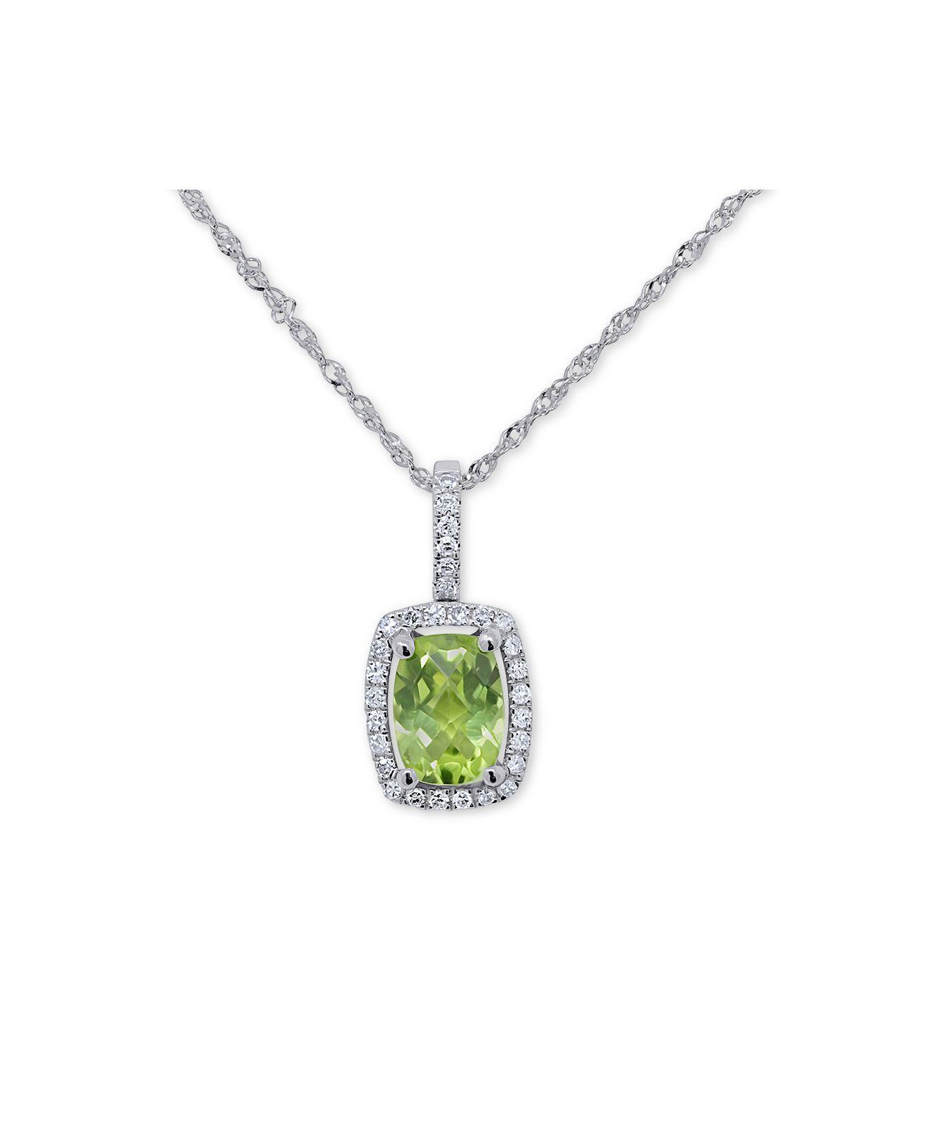 DiamondJewelryNY Silver Pendant SS Crystal Birthstone BOY-April