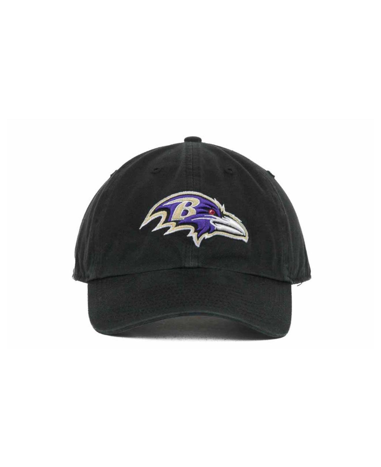 Lyst - 47 Brand Baltimore Ravens Clean Up Cap in Black for Men f5ffa3fe2