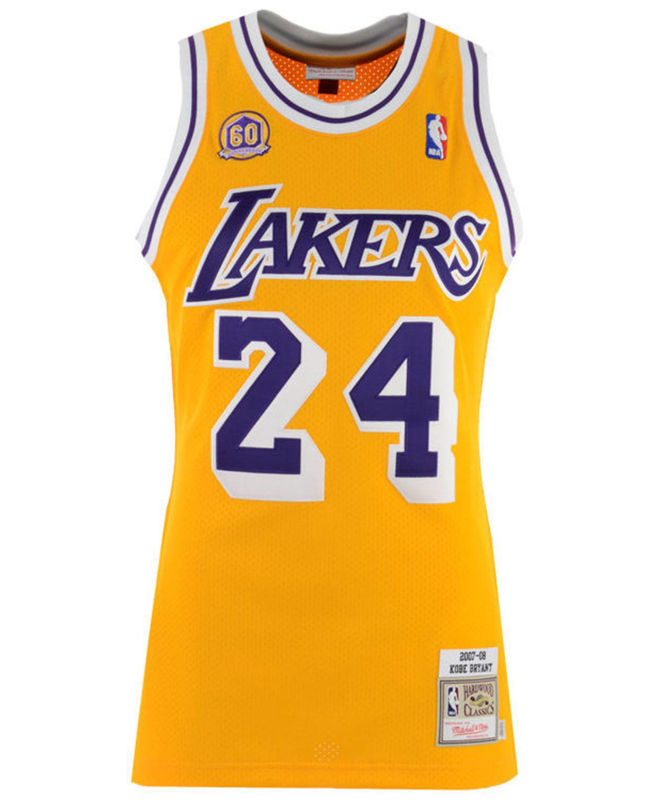 7be8191a00e Mitchell & Ness - Metallic Kobe Bryant Los Angeles Lakers Authentic Jersey  for Men - Lyst. View fullscreen