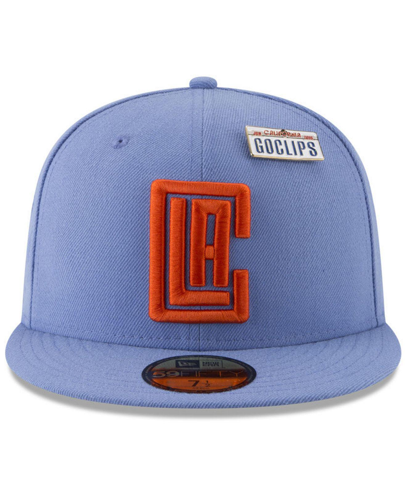 super popular eeaa4 8cf96 Lyst - KTZ Los Angeles Clippers City On-court 59fifty Fitted Cap in Blue  for Men