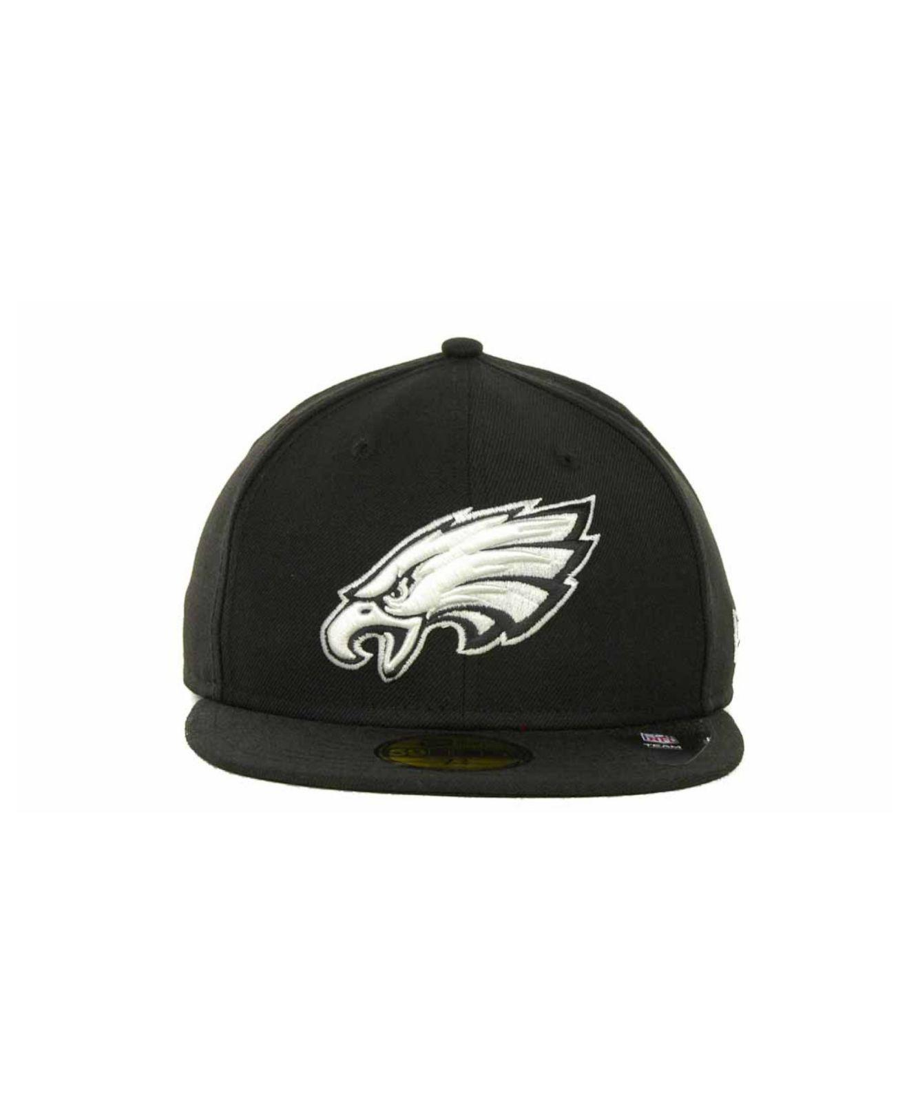 new products 2e37c a175a Lyst - KTZ Philadelphia Eagles 59fifty Cap in Black for Men