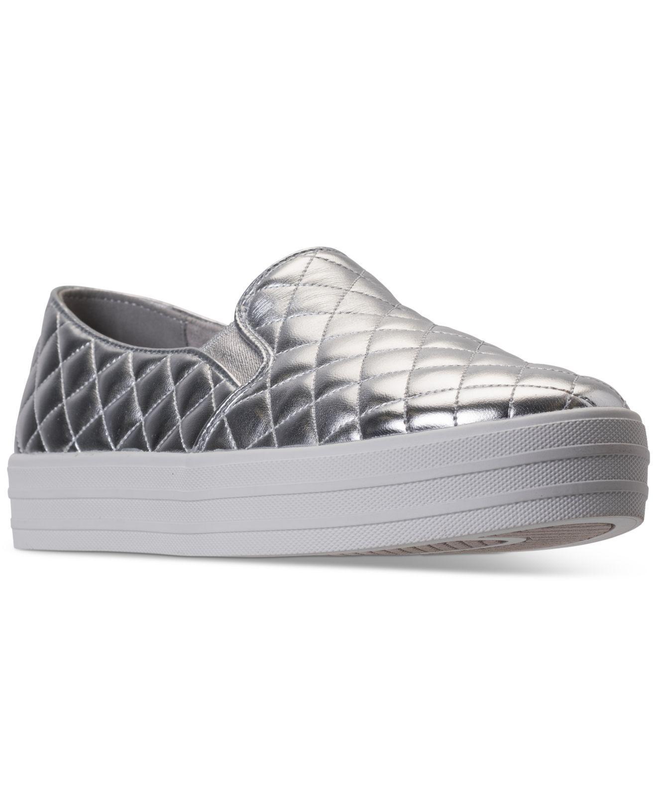 b3ff7c52ddb Lyst - Skechers Women s Double Up - Duvet Casual Sneakers From ...