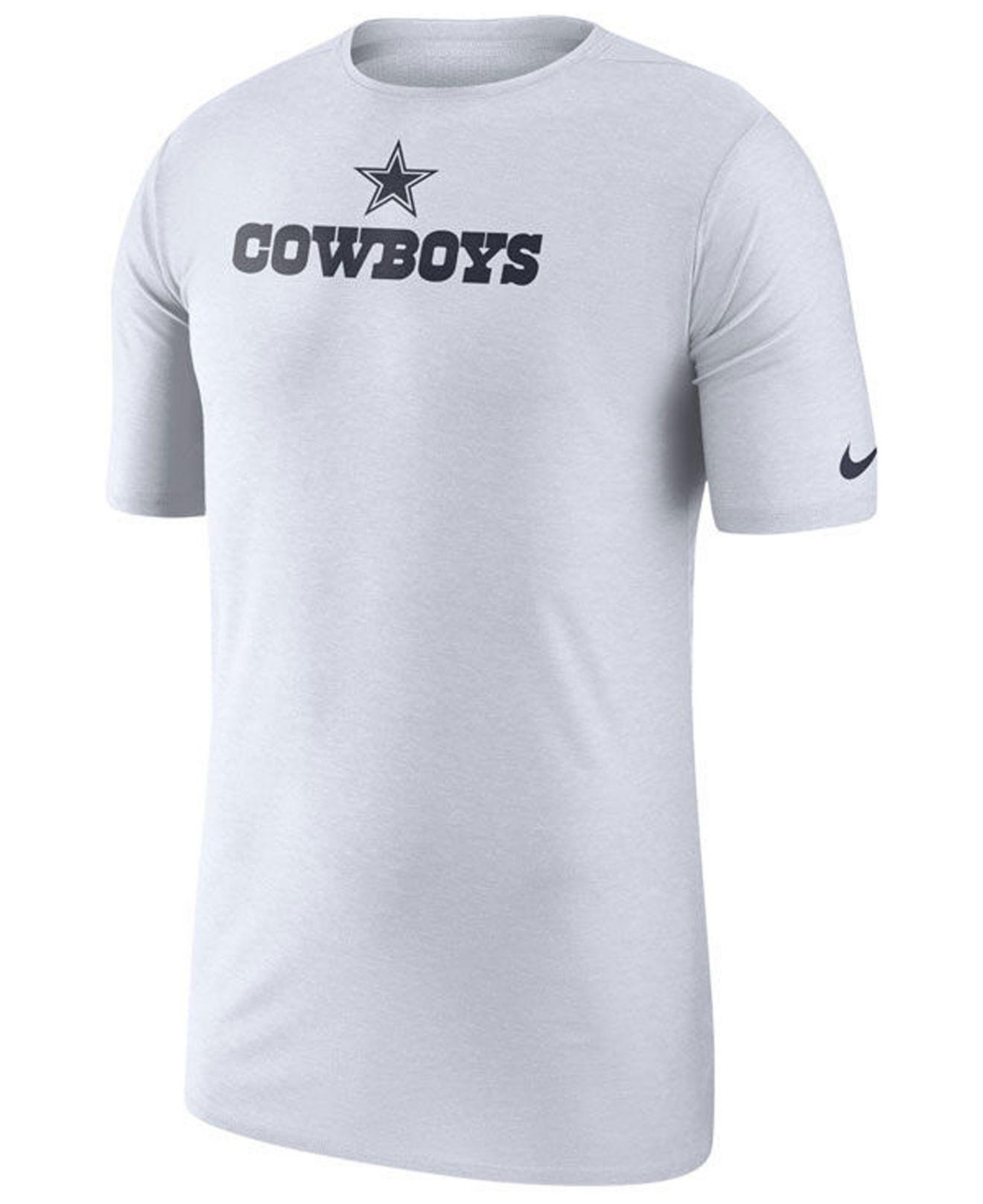 Lyst - Nike Dallas Cowboys Player Top T-shirt 2018 in White for Men 1638df033