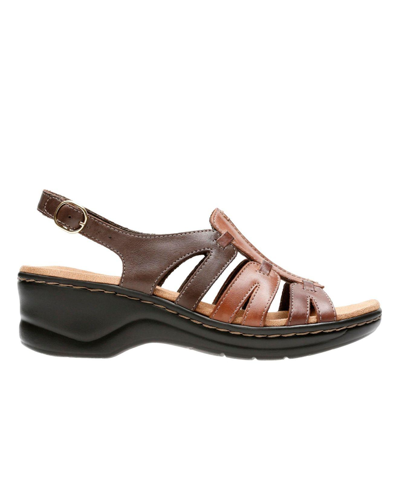 Clarks Leather Lexi Marigold Q Sandals In Brown Lyst