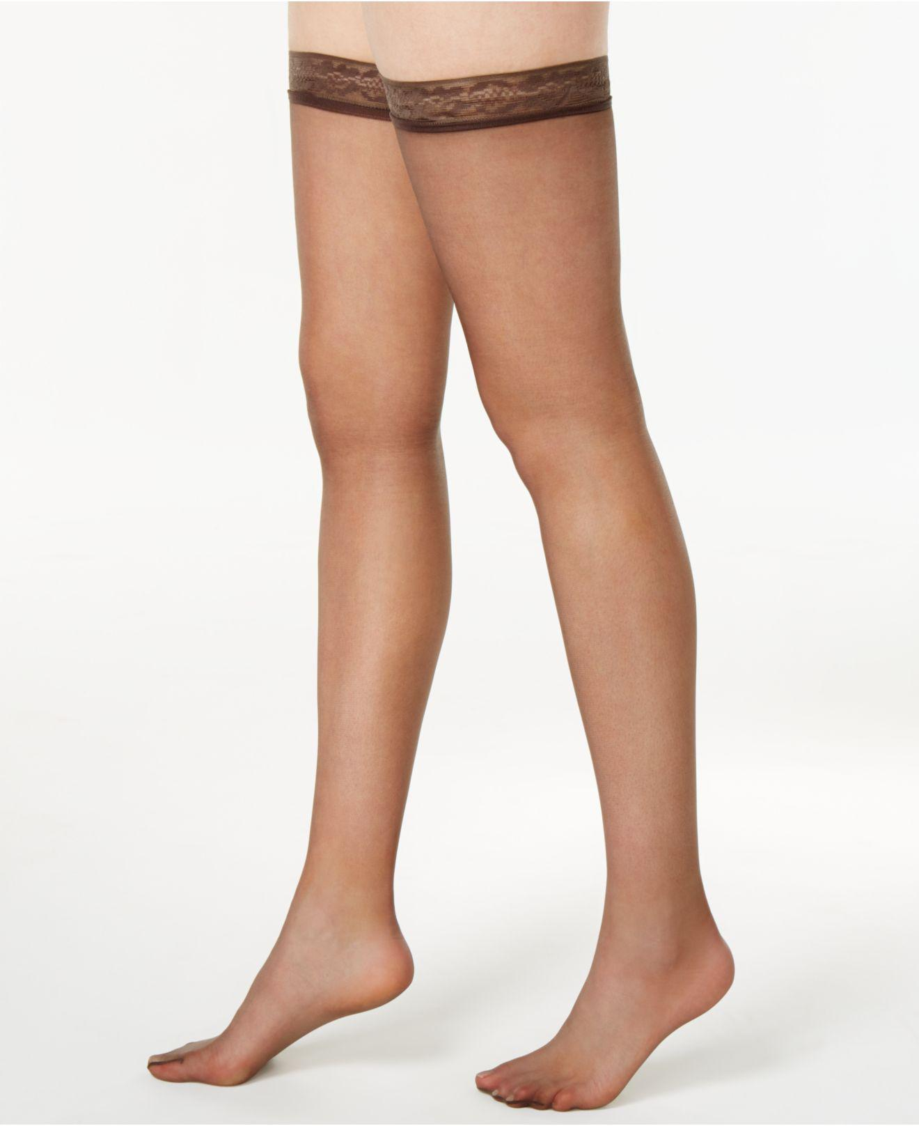 388155e1a39 Hanes Silk Reflections Silky Sheer Thigh Highs 720 - Save 18% - Lyst