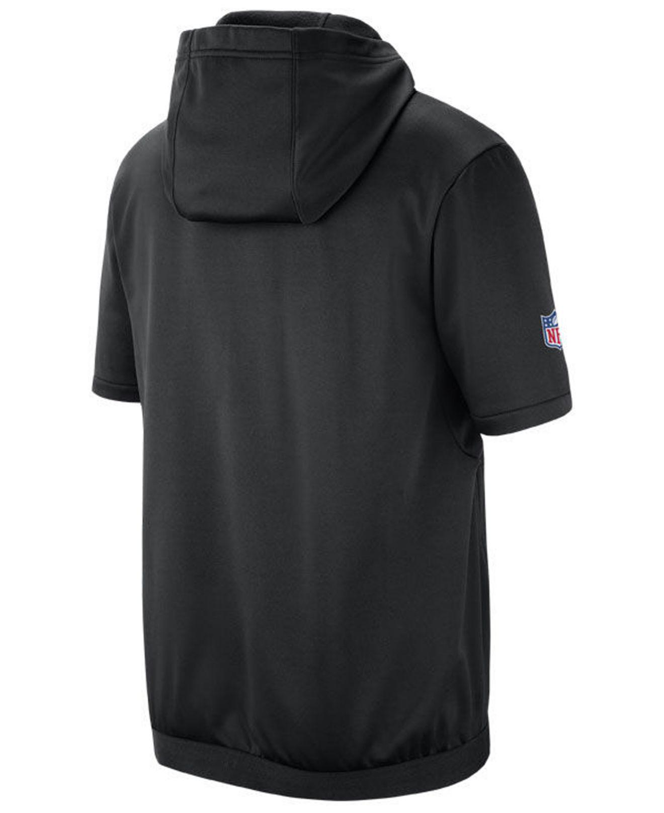 Lyst - Nike Pittsburgh Steelers Therma Top Short Sleeve Jacket in Black for  Men 6a4a124ac