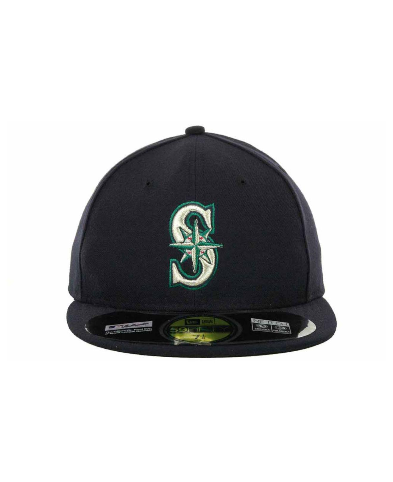 finest selection 29d6e 8c93e Lyst - KTZ Seattle Mariners Authentic Collection 59fifty Hat in Blue for Men